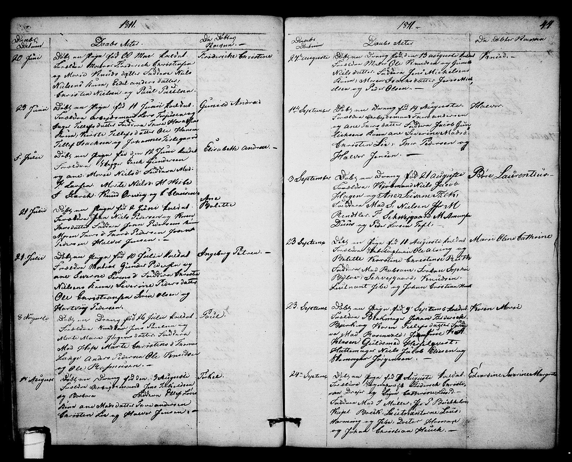 SAKO, Kragerø kirkebøker, F/Fa/L0003: Ministerialbok nr. 3, 1802-1813, s. 44