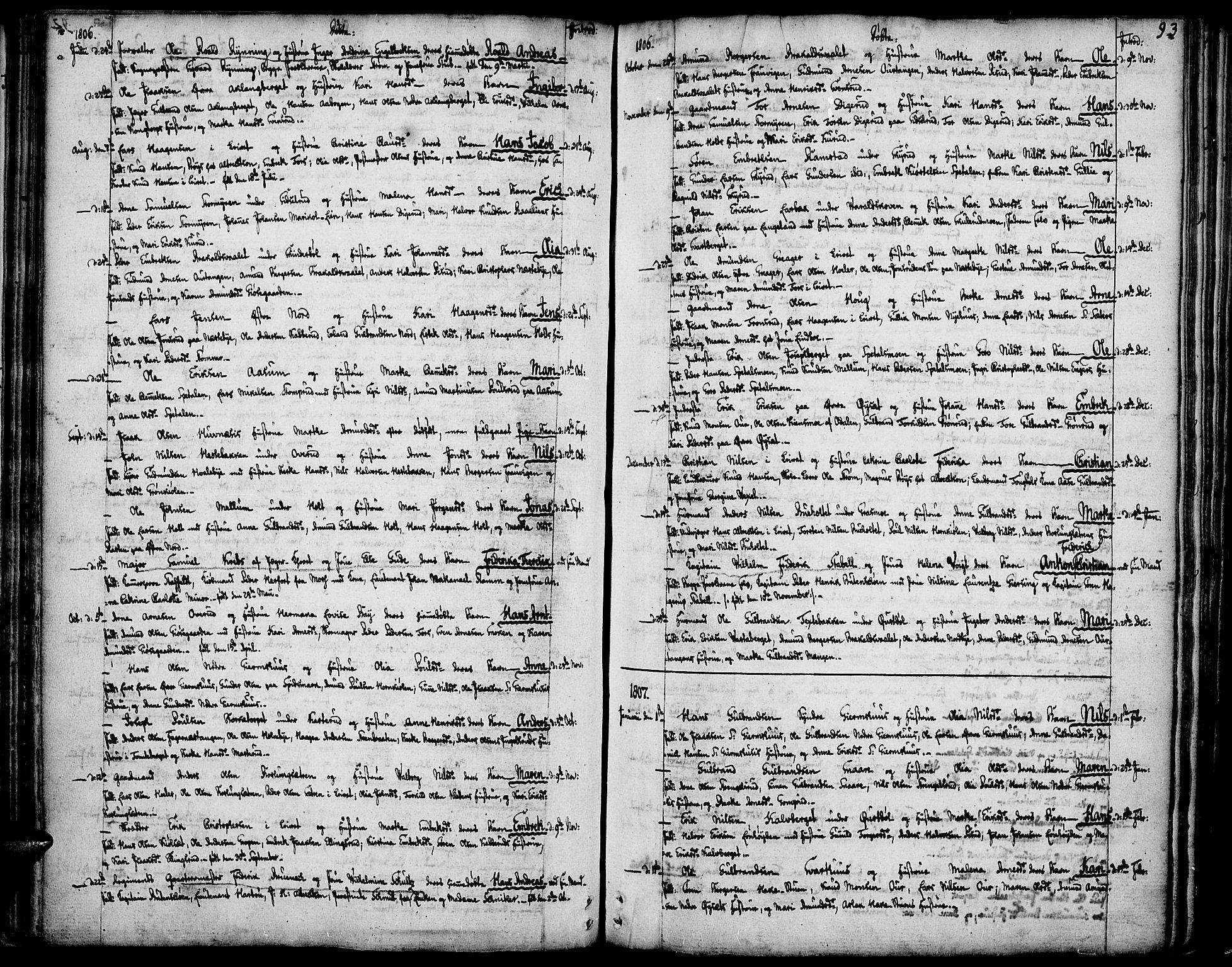 SAH, Vinger prestekontor, Ministerialbok nr. 5, 1772-1813, s. 93