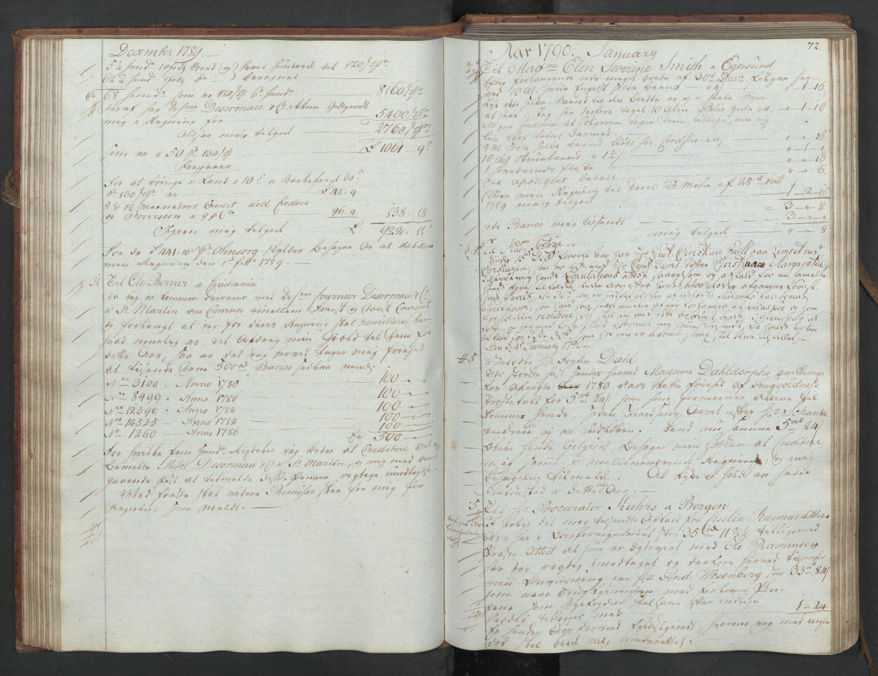 SAST, Pa 0003 - Ploug & Sundt, handelshuset, B/L0006: Kopibok, 1788-1793, s. 71b-72a