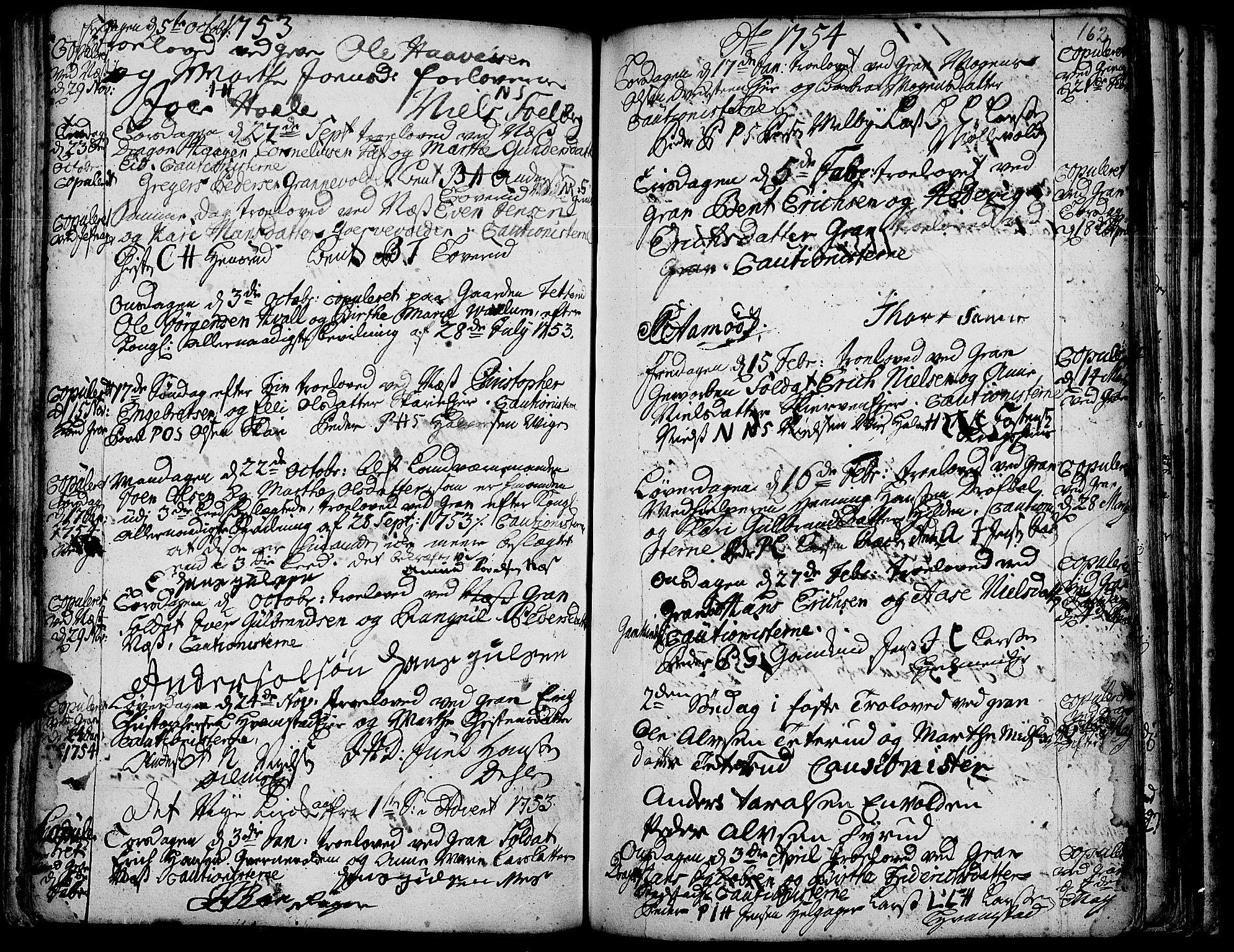 SAH, Gran prestekontor, Ministerialbok nr. 3, 1745-1758, s. 162