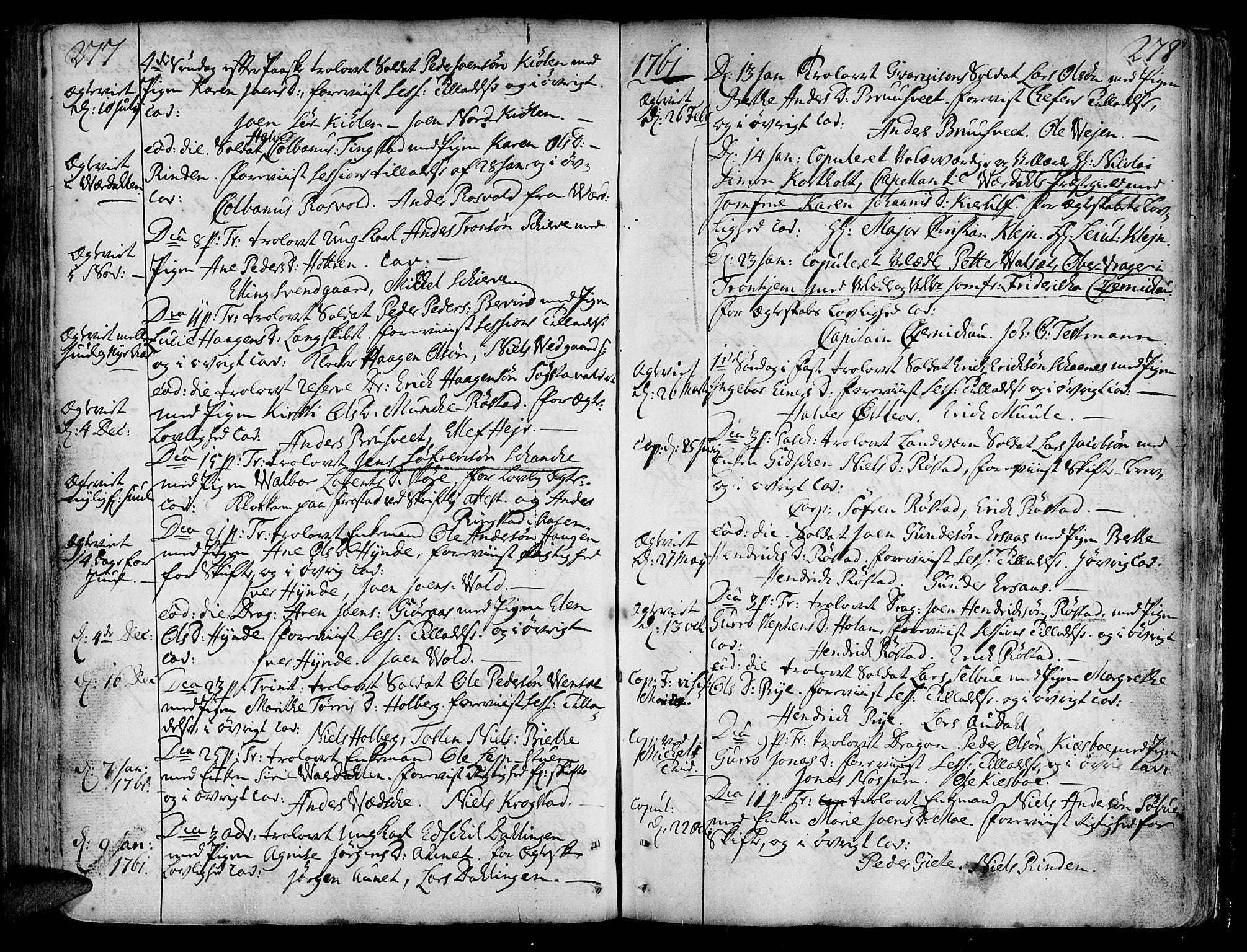 SAT, Ministerialprotokoller, klokkerbøker og fødselsregistre - Nord-Trøndelag, 717/L0141: Ministerialbok nr. 717A01, 1747-1803, s. 277-278