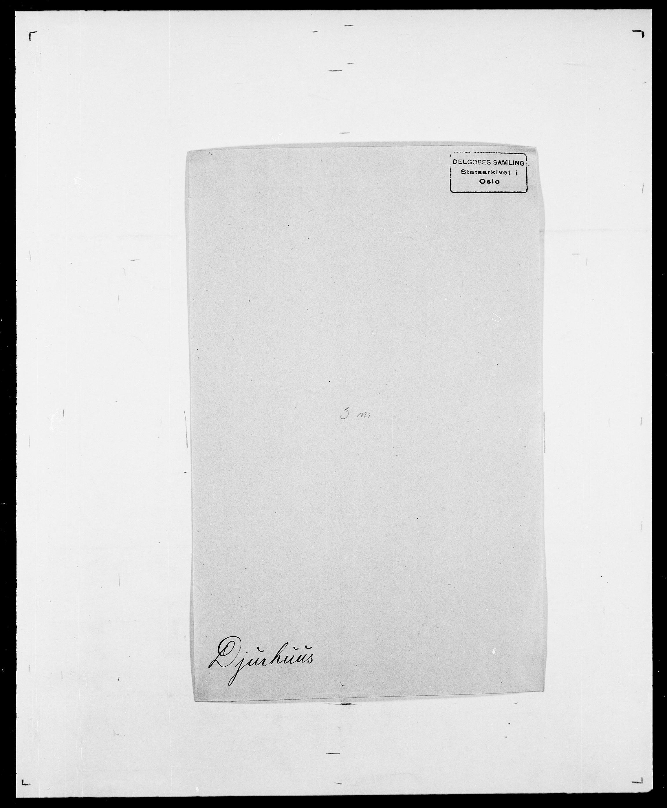 SAO, Delgobe, Charles Antoine - samling, D/Da/L0009: Dahl - v. Düren, s. 613