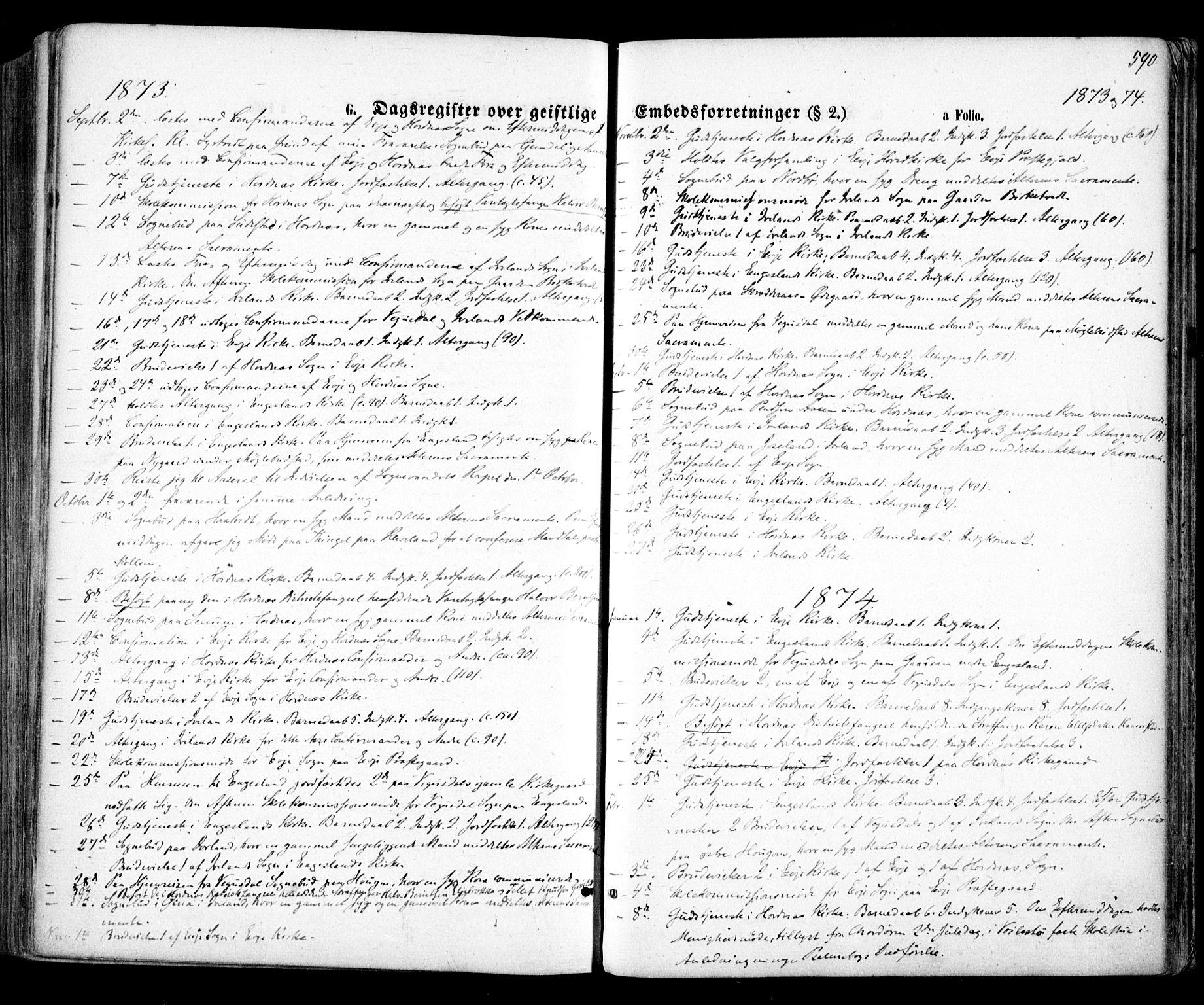 SAK, Evje sokneprestkontor, F/Fa/Faa/L0006: Ministerialbok nr. A 6, 1866-1884, s. 590