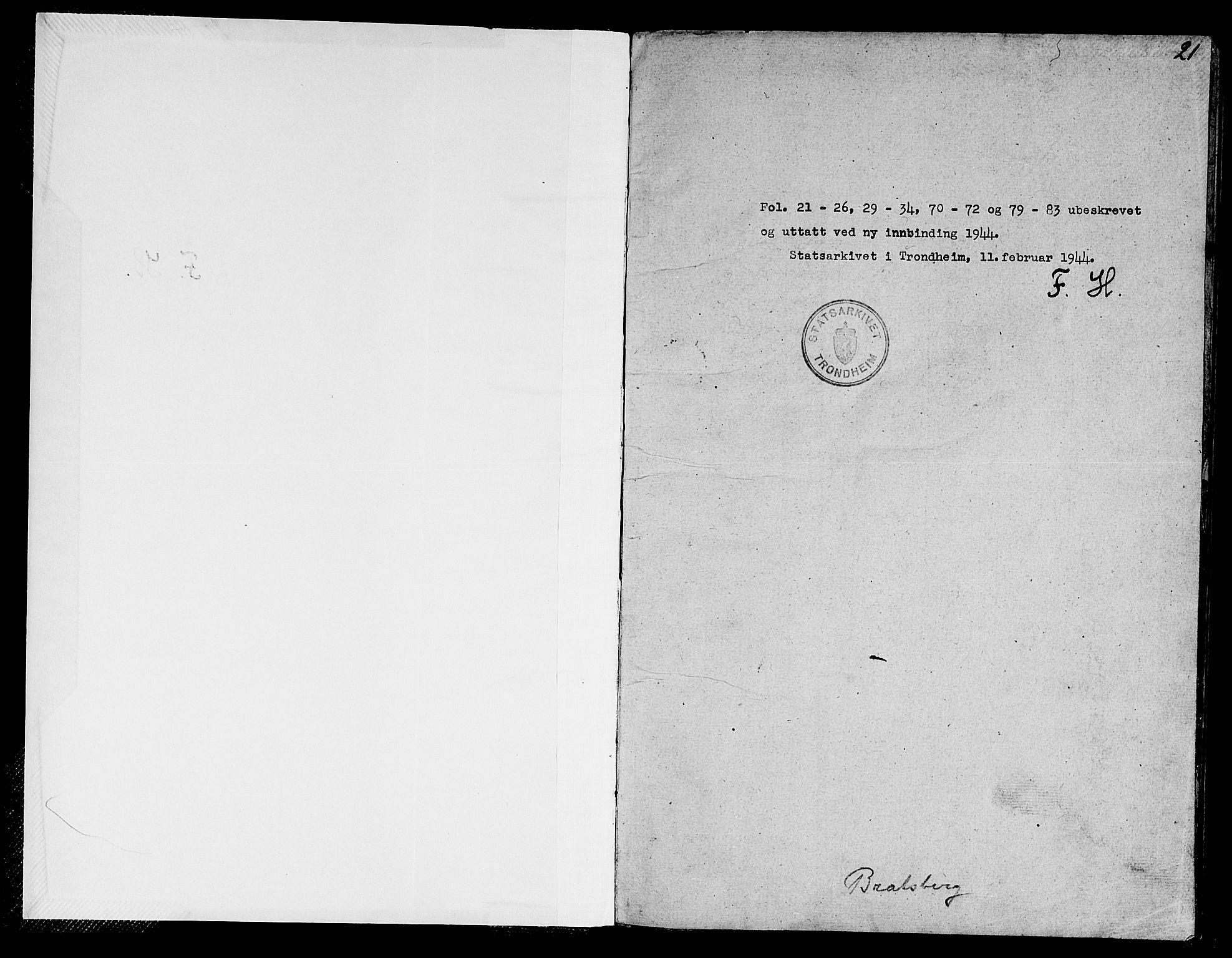 SAT, Ministerialprotokoller, klokkerbøker og fødselsregistre - Sør-Trøndelag, 608/L0338: Klokkerbok nr. 608C04, 1831-1843, s. 21