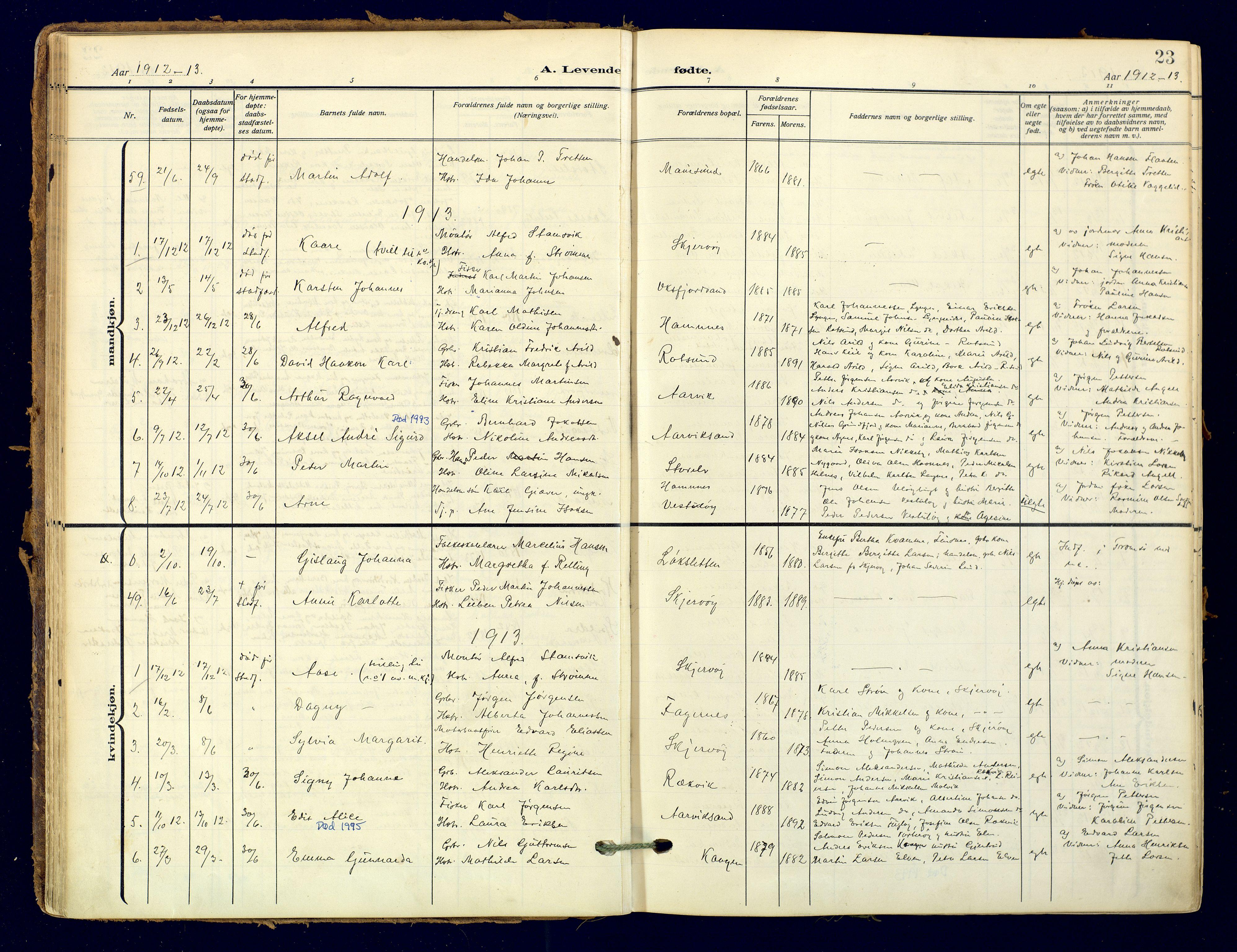 SATØ, Skjervøy sokneprestkontor, H/Ha/Haa: Ministerialbok nr. 18, 1910-1926, s. 23