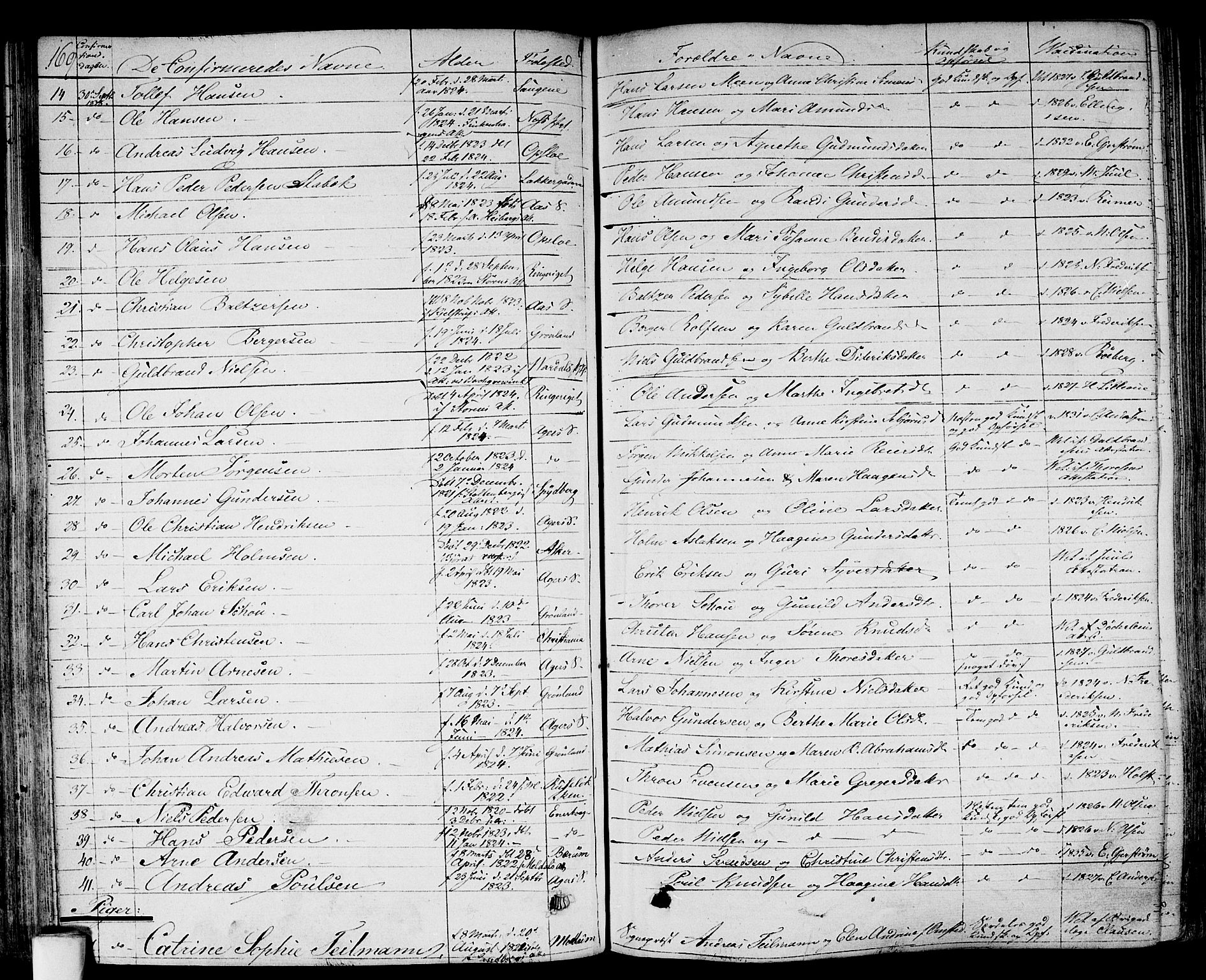 SAO, Gamlebyen prestekontor Kirkebøker, F/Fa/L0003: Ministerialbok nr. 3, 1829-1849, s. 169