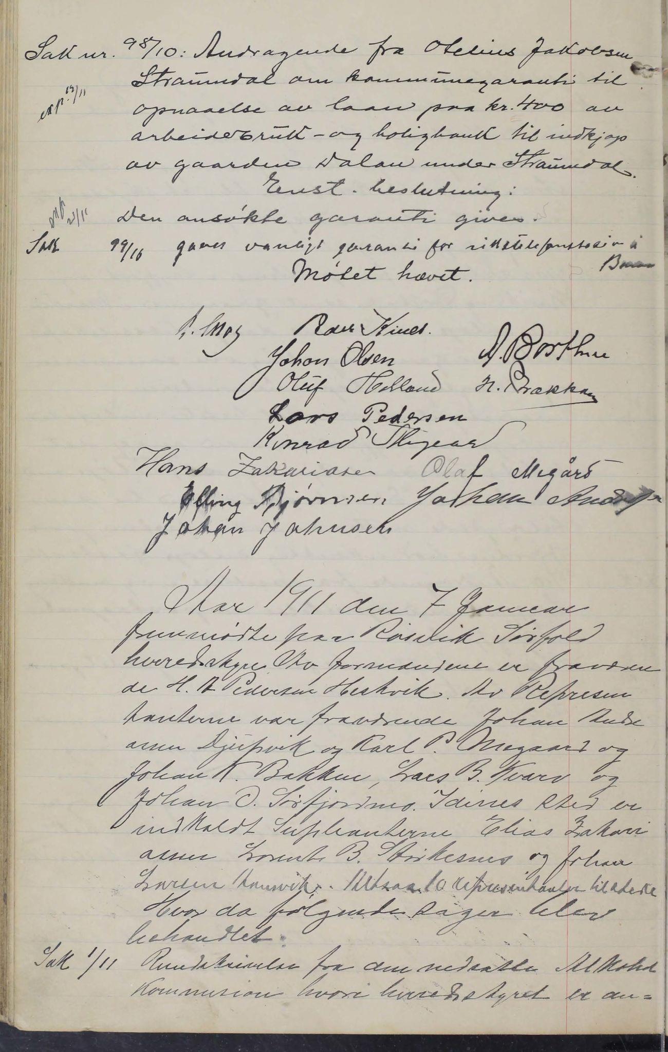 AIN, Sørfold kommune. Formannskap, 100/L0002: Forhandlingsprotokol for Sørfoldens formandskab, 1902-1913, s. 133b