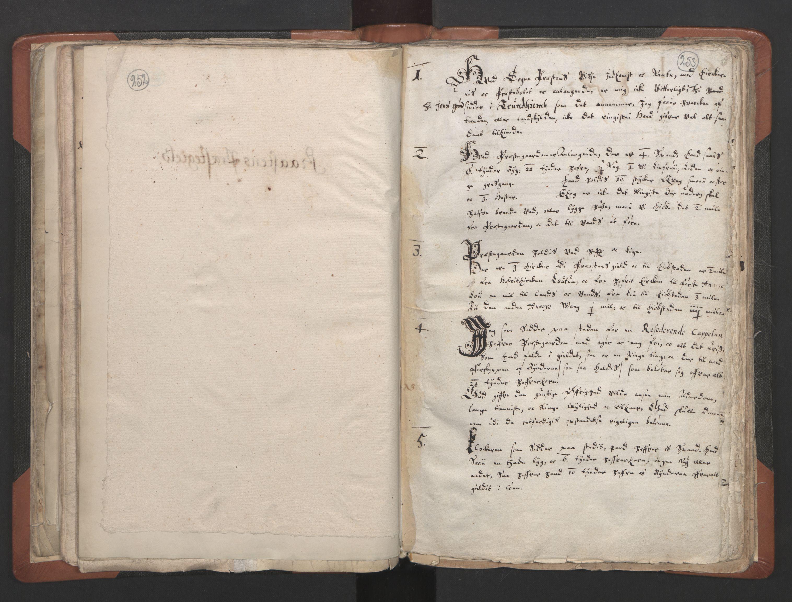 RA, Sogneprestenes manntall 1664-1666, nr. 32: Innherad prosti, 1664-1666, s. 252-253