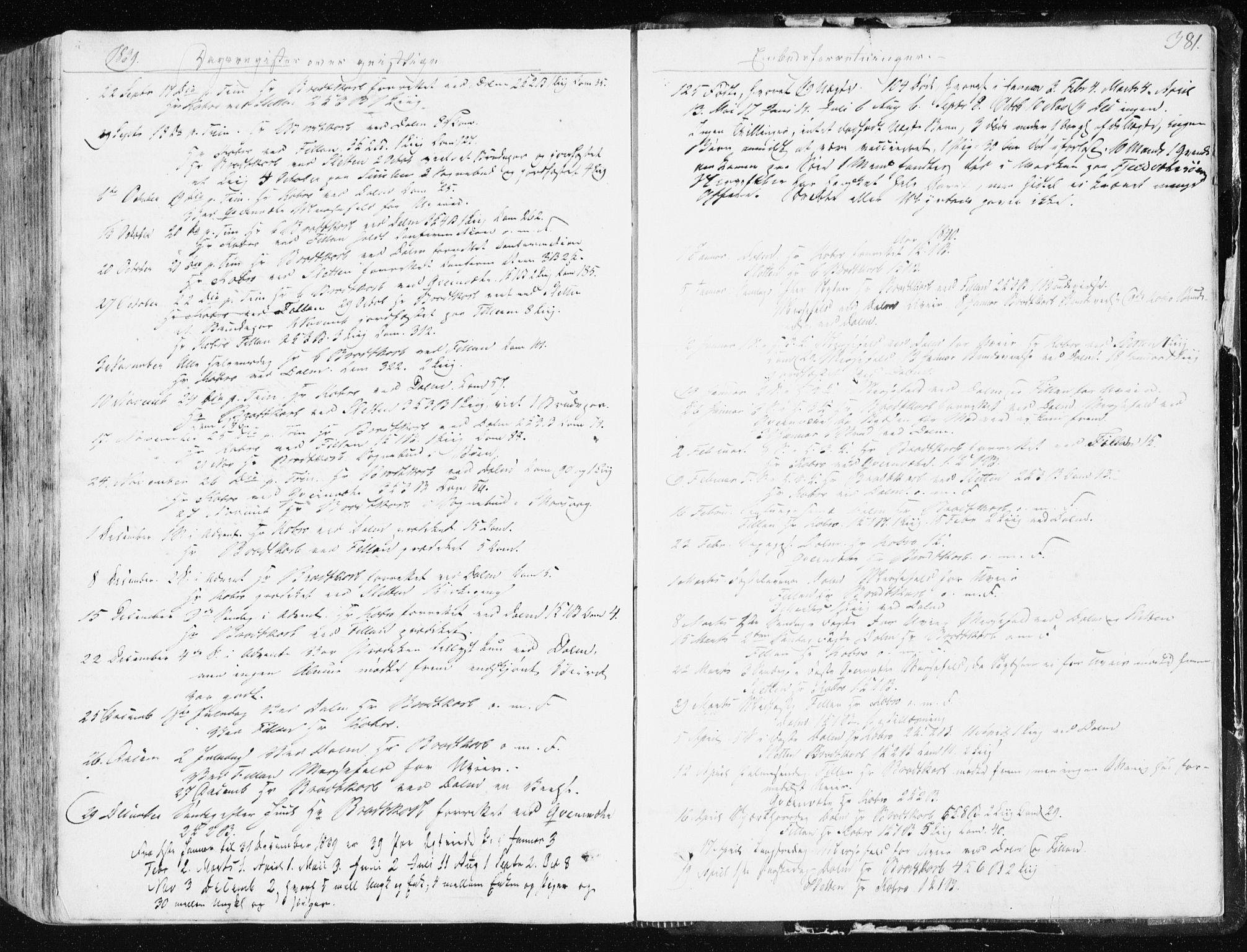 SAT, Ministerialprotokoller, klokkerbøker og fødselsregistre - Sør-Trøndelag, 634/L0528: Ministerialbok nr. 634A04, 1827-1842, s. 381