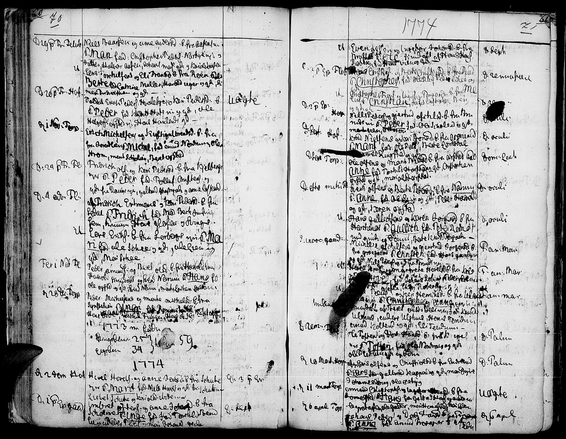 SAH, Land prestekontor, Ministerialbok nr. 5, 1765-1784, s. 70-71