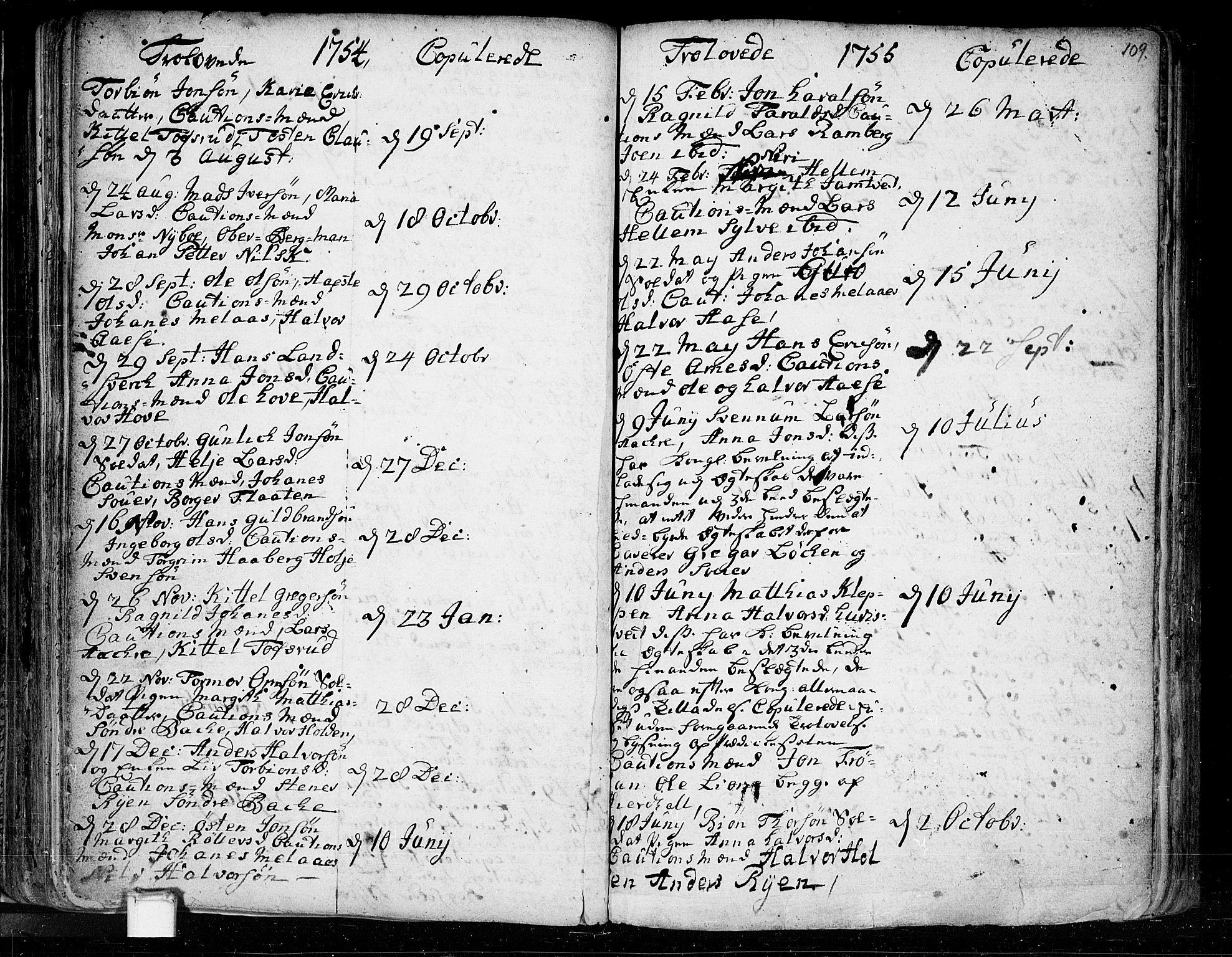SAKO, Heddal kirkebøker, F/Fa/L0003: Ministerialbok nr. I 3, 1723-1783, s. 109