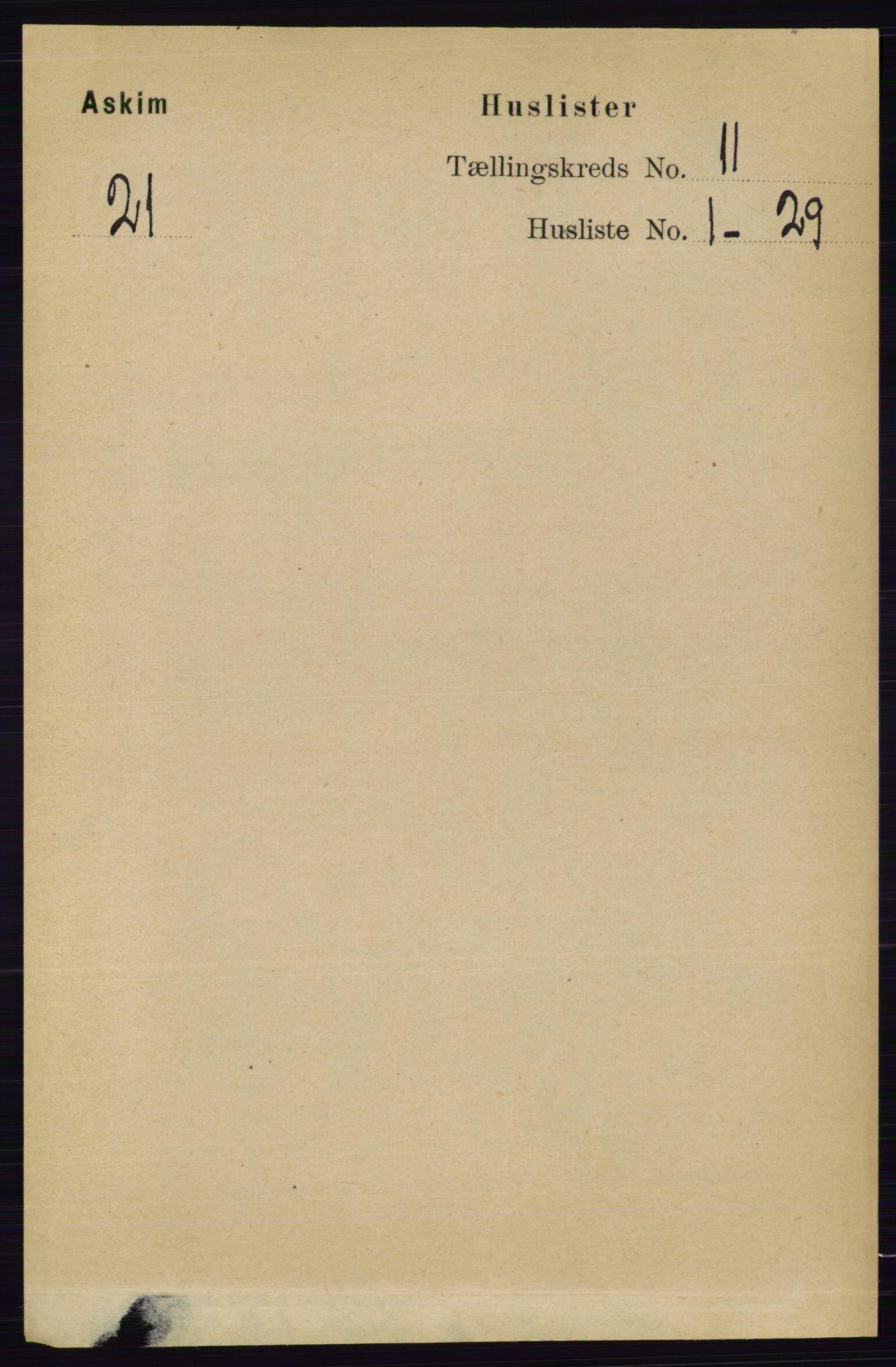 RA, Folketelling 1891 for 0124 Askim herred, 1891, s. 1709