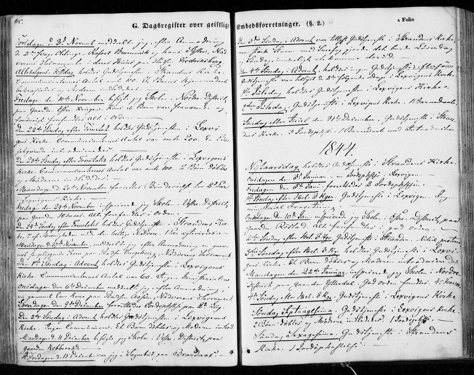 SAT, Ministerialprotokoller, klokkerbøker og fødselsregistre - Nord-Trøndelag, 701/L0007: Ministerialbok nr. 701A07 /1, 1842-1854, s. 415