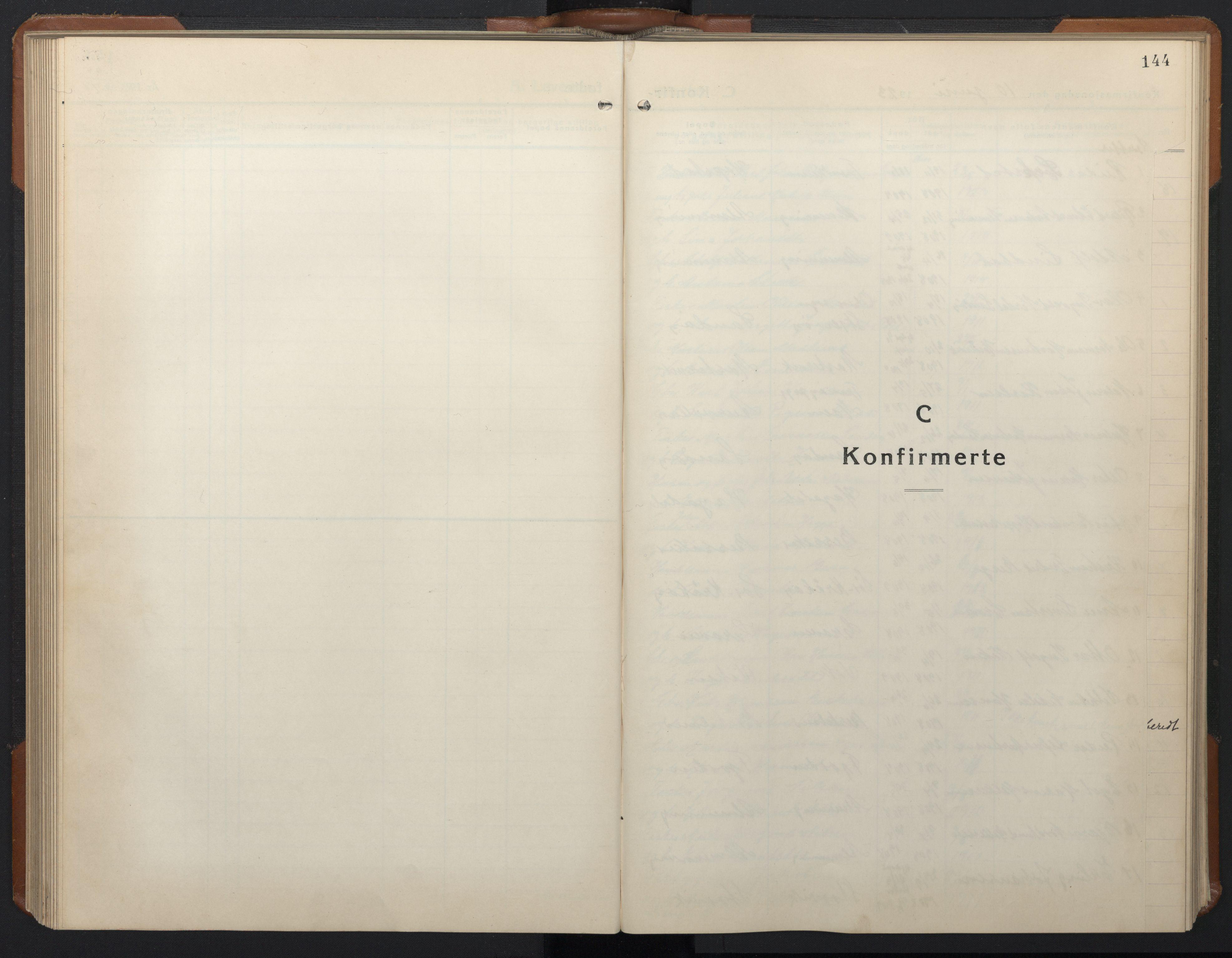 SAT, Ministerialprotokoller, klokkerbøker og fødselsregistre - Sør-Trøndelag, 657/L0718: Klokkerbok nr. 657C05, 1923-1948, s. 144
