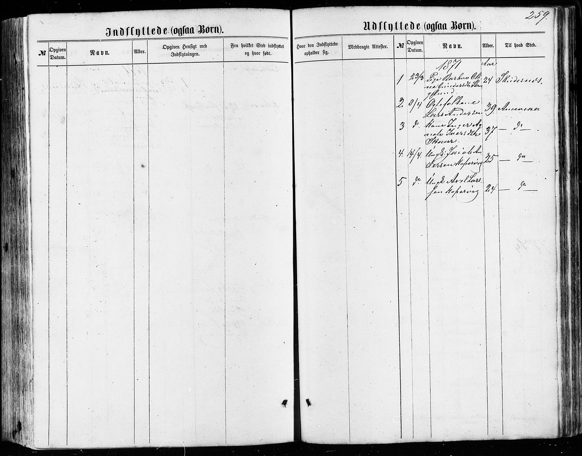 SAST, Avaldsnes sokneprestkontor, H/Ha/Haa/L0011: Ministerialbok nr. A 11, 1861-1880, s. 259