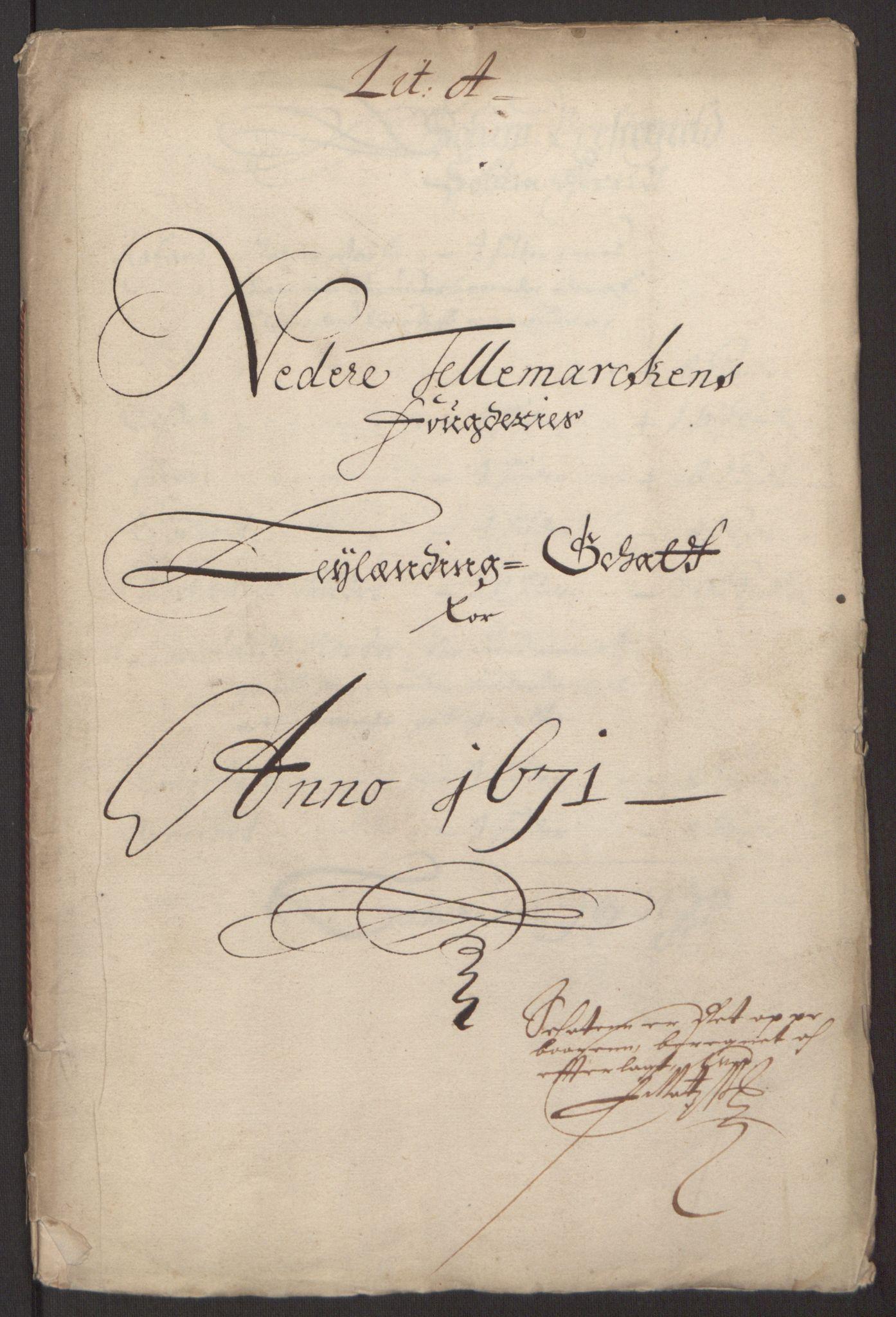 RA, Rentekammeret inntil 1814, Reviderte regnskaper, Fogderegnskap, R35/L2060: Fogderegnskap Øvre og Nedre Telemark, 1671-1672, s. 133
