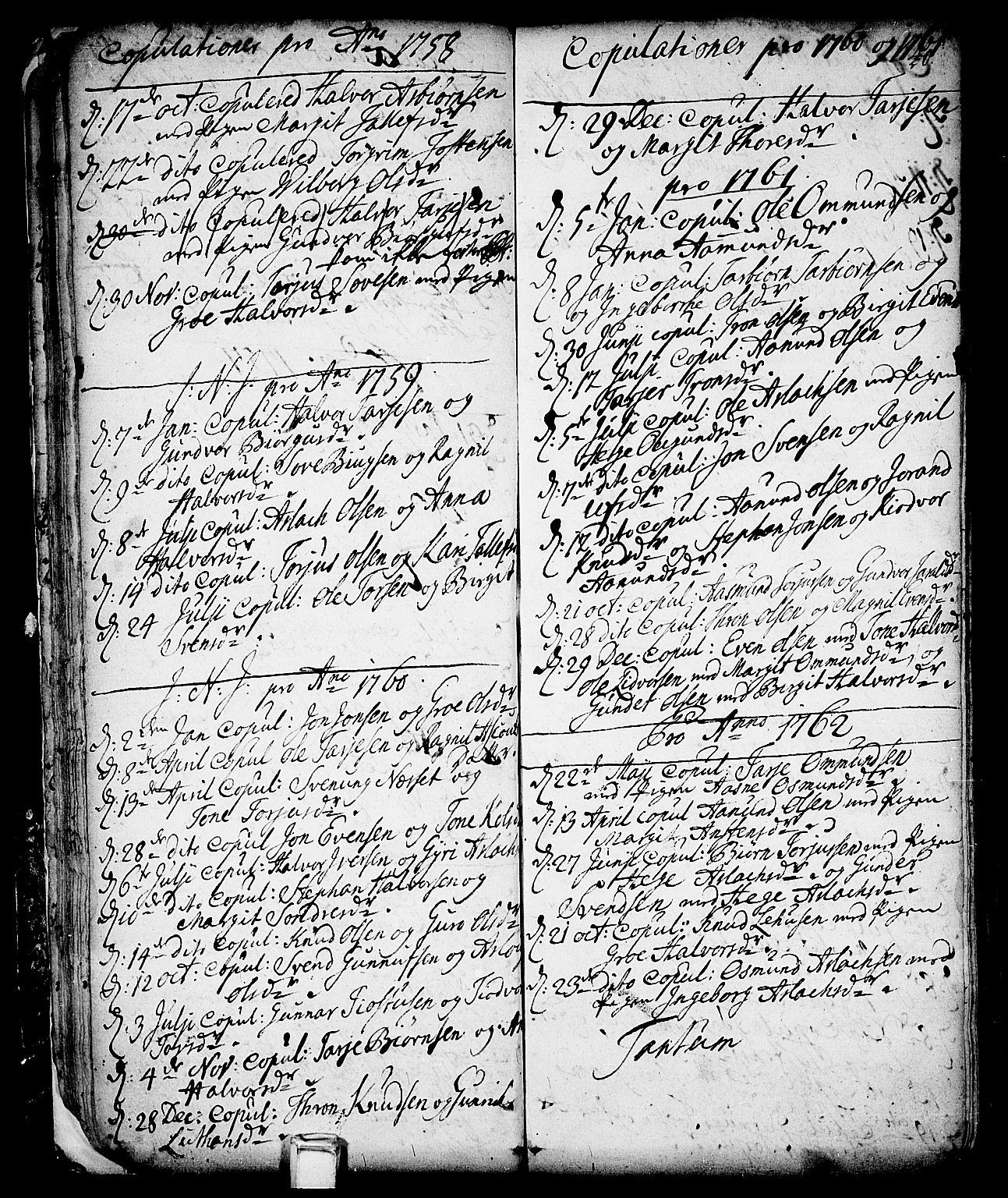 SAKO, Vinje kirkebøker, F/Fa/L0001: Ministerialbok nr. I 1, 1717-1766, s. 40