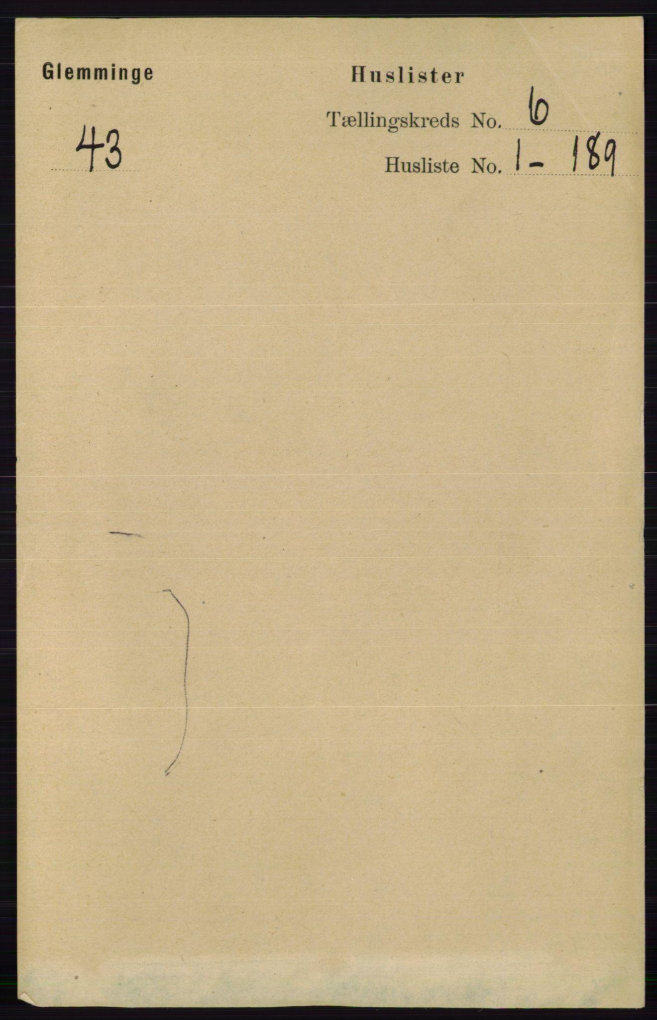 RA, Folketelling 1891 for 0132 Glemmen herred, 1891, s. 7312