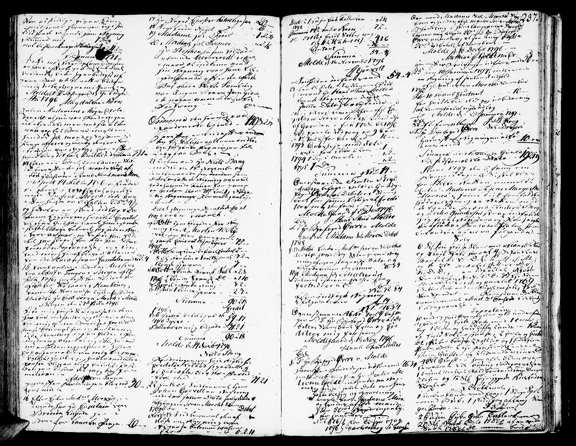 SAT, Molde byfogd, 3Aa/L0003: Skifteprotokoll, 1786-1800, s. 236b-237a