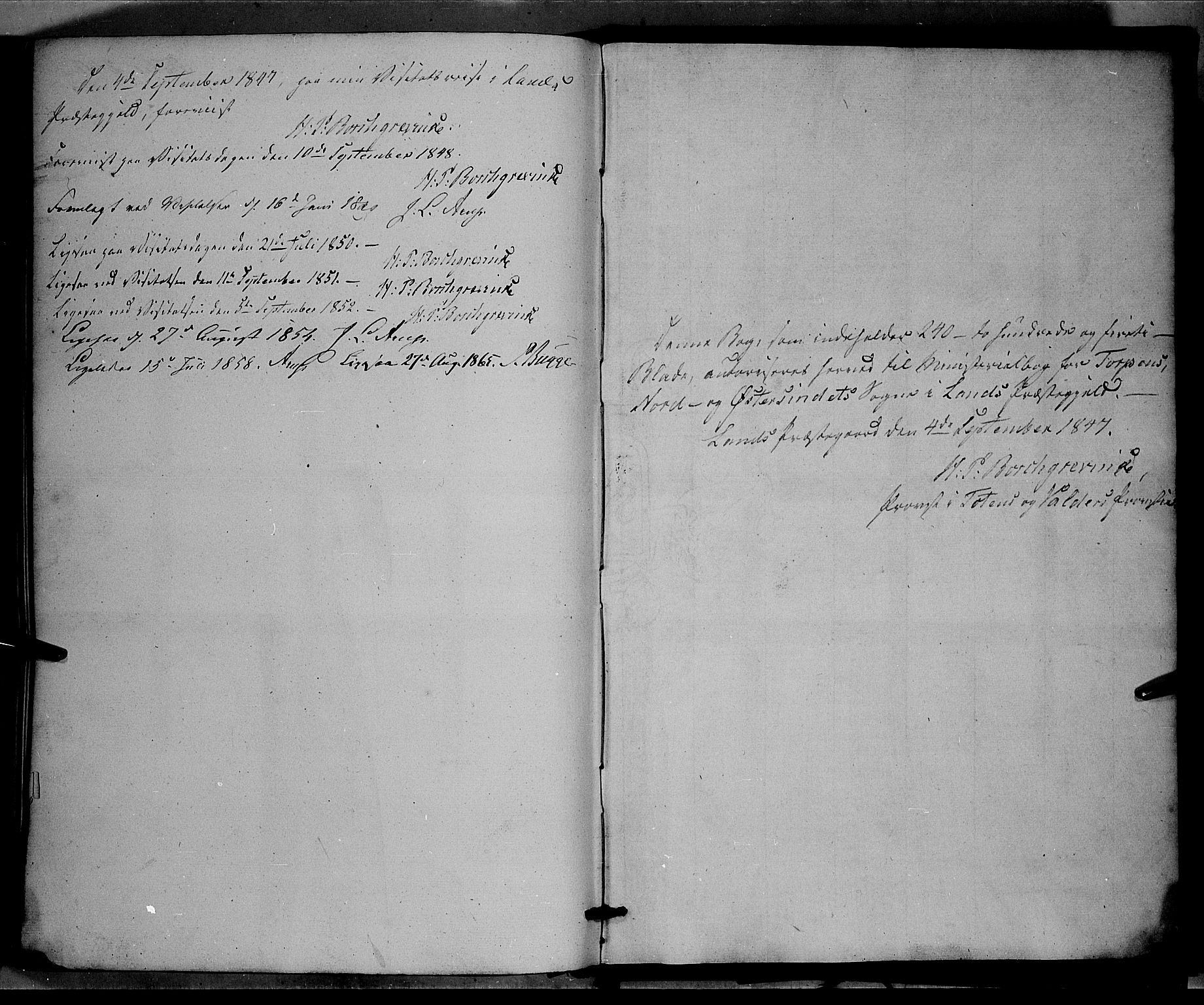 SAH, Land prestekontor, Ministerialbok nr. 10, 1847-1859