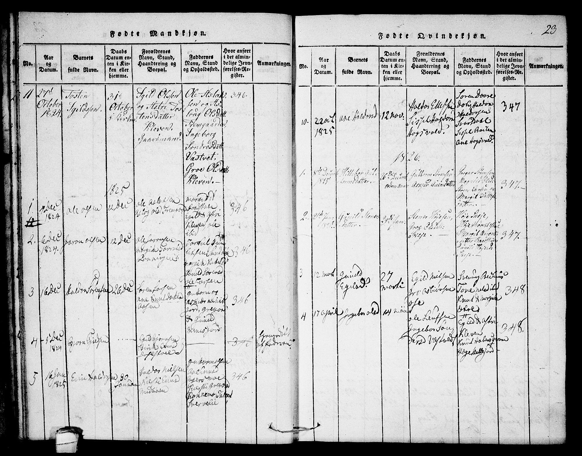 SAKO, Seljord kirkebøker, F/Fb/L0001: Ministerialbok nr. II 1, 1815-1831, s. 23