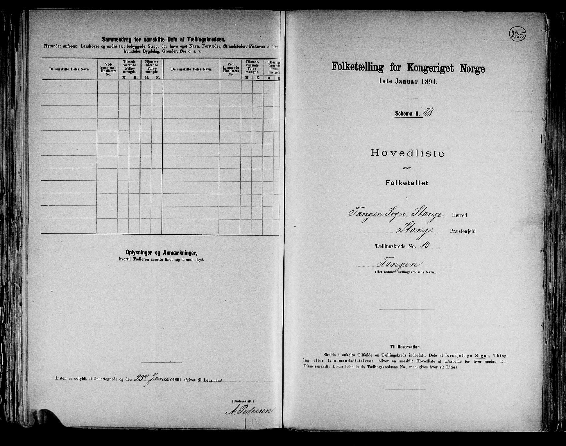 RA, Folketelling 1891 for 0417 Stange herred, 1891, s. 36