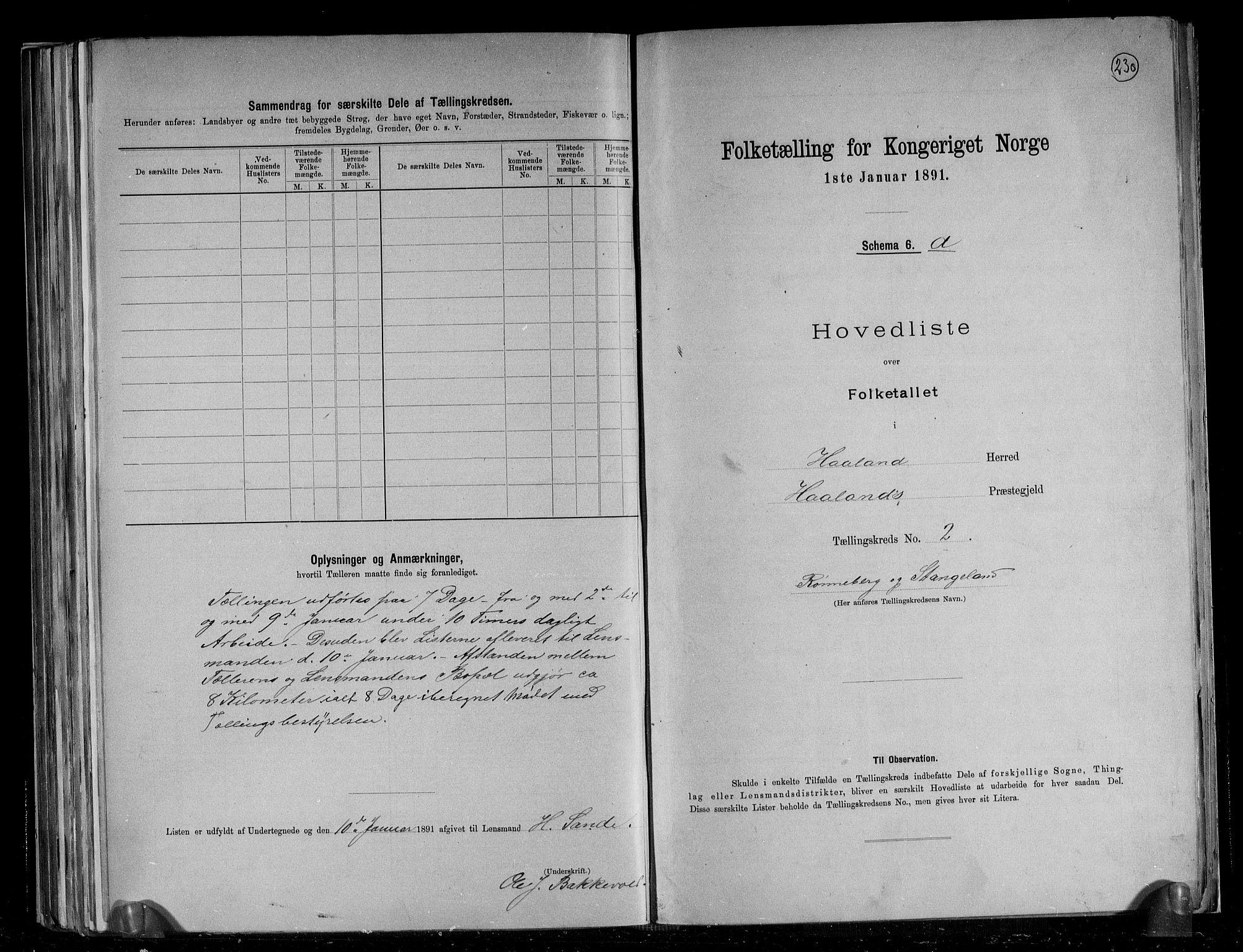 RA, Folketelling 1891 for 1124 Haaland herred, 1891, s. 8