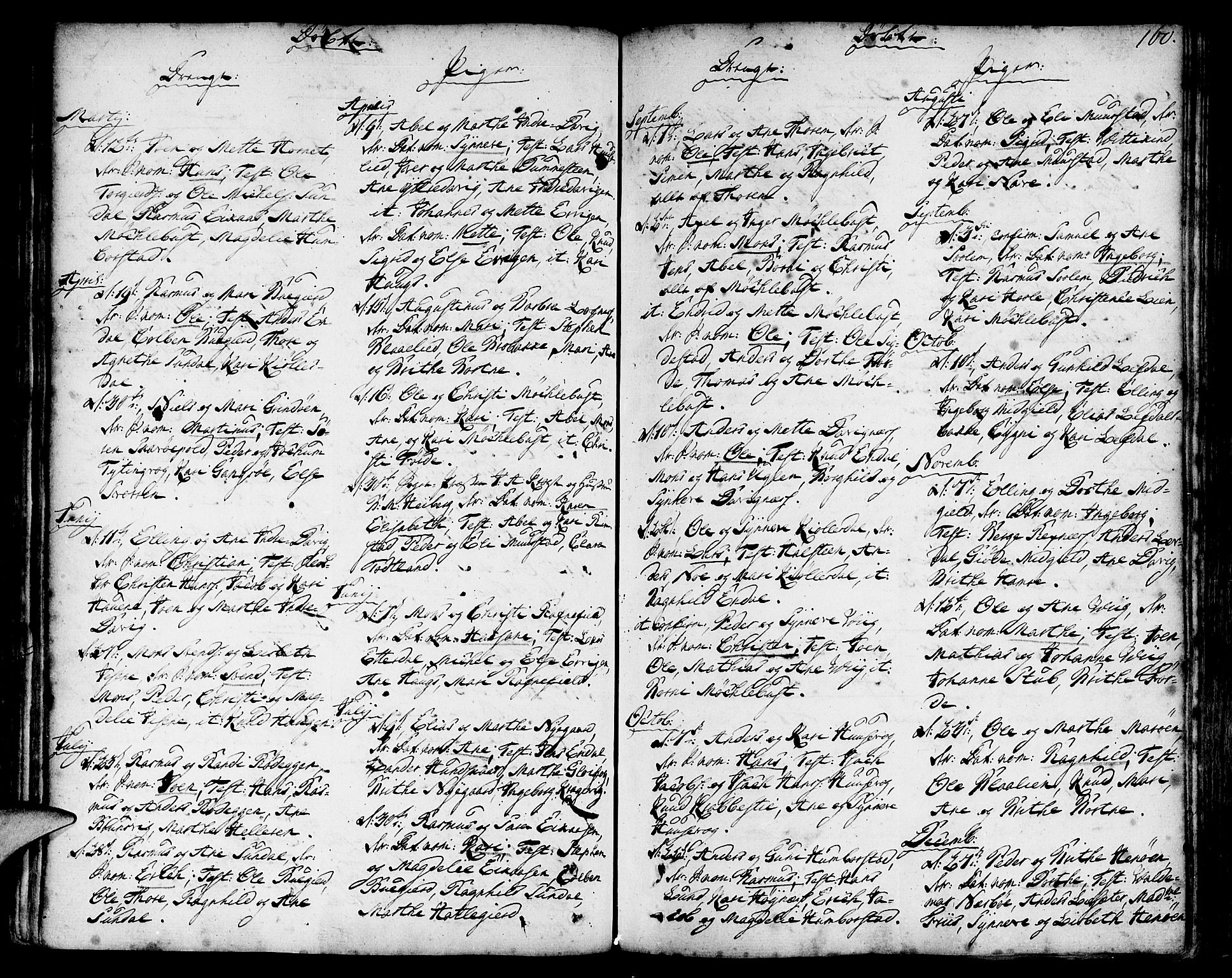 SAB, Davik Sokneprestembete, Ministerialbok nr. A 2, 1742-1816, s. 160