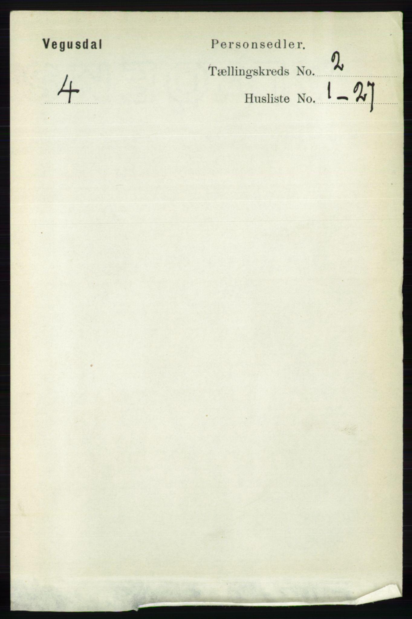 RA, Folketelling 1891 for 0934 Vegusdal herred, 1891, s. 318