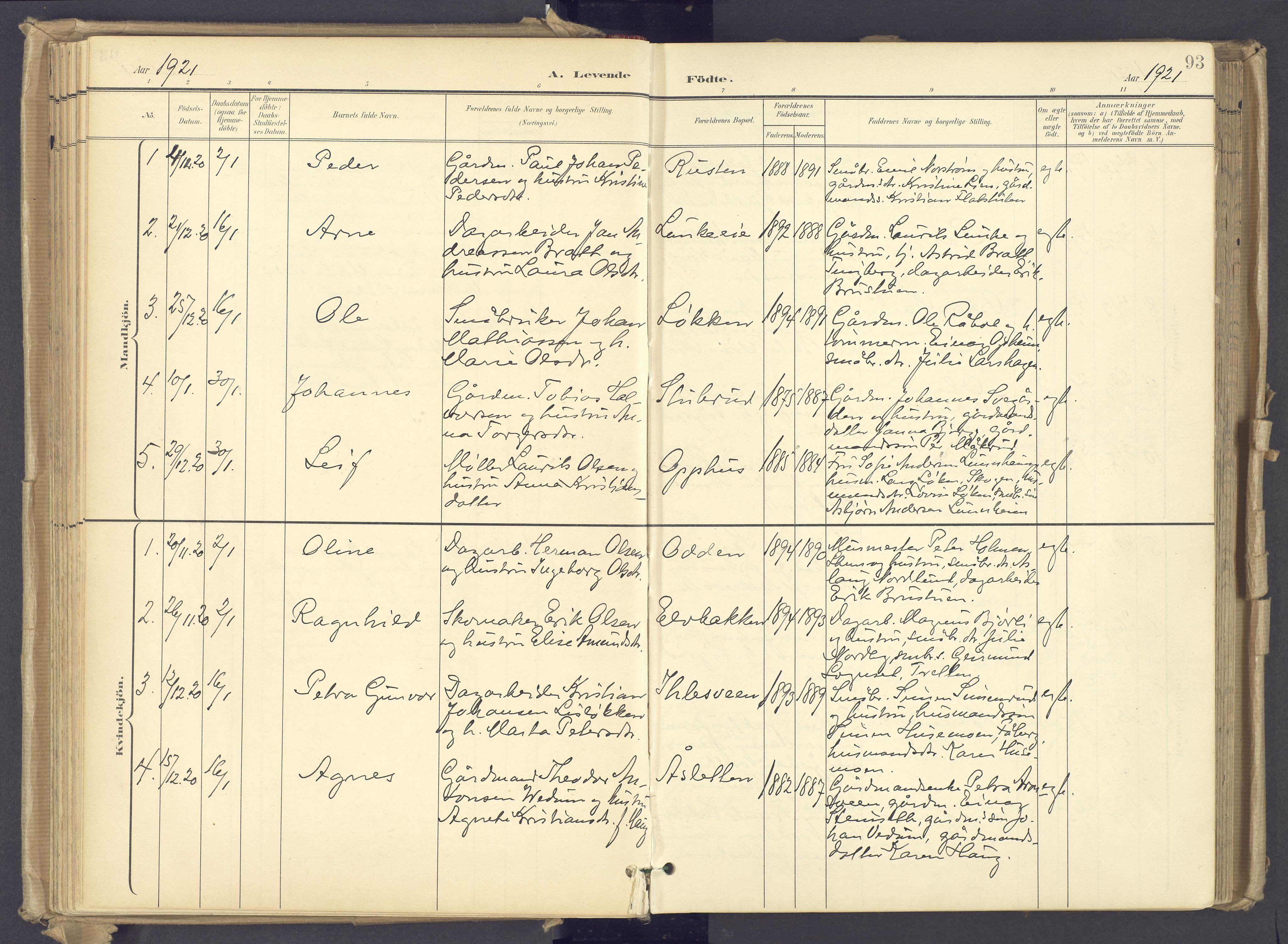 SAH, Øyer prestekontor, Ministerialbok nr. 12, 1897-1920, s. 93