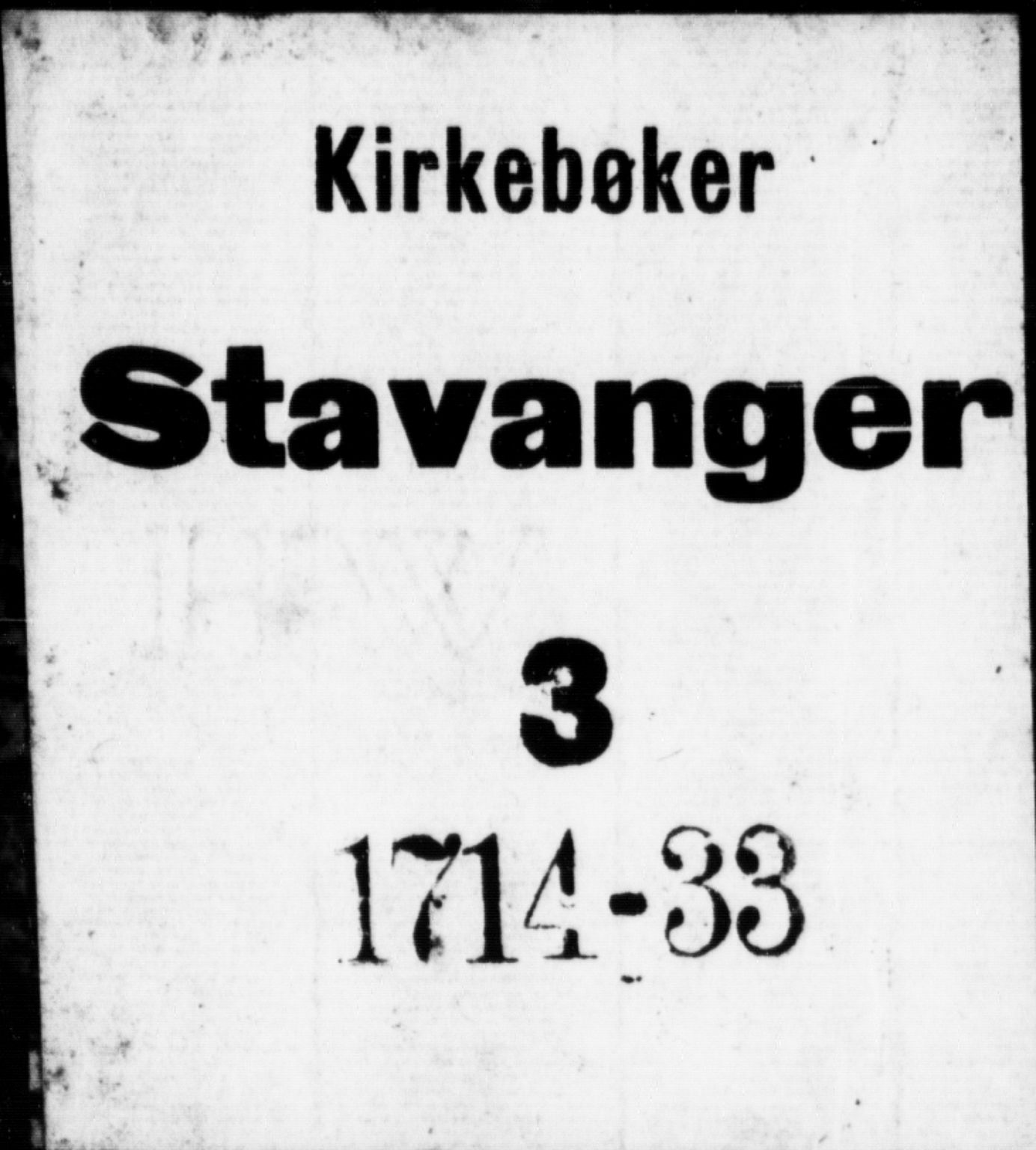 SAST, Domkirken sokneprestkontor, 30/30BB/L0002: Klokkerbok nr. B 2, 1714-1733
