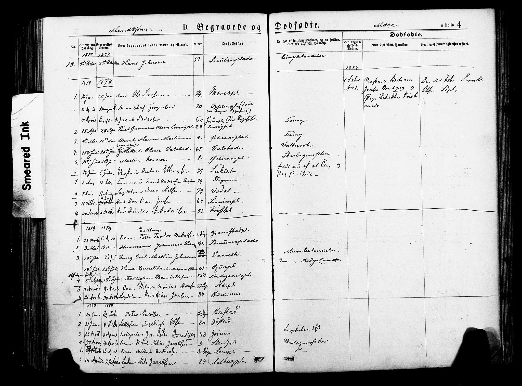 SAT, Ministerialprotokoller, klokkerbøker og fødselsregistre - Nord-Trøndelag, 735/L0348: Ministerialbok nr. 735A09 /1, 1873-1883, s. 4