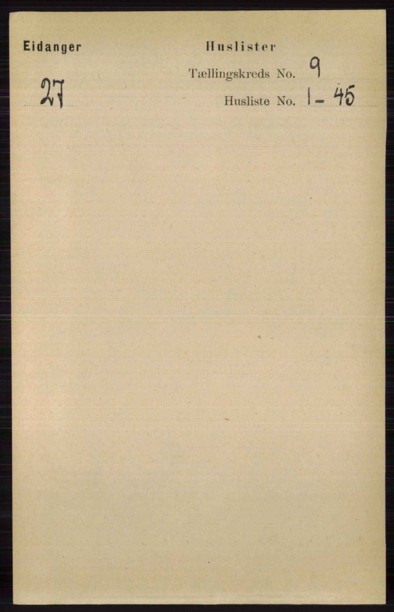 RA, Folketelling 1891 for 0813 Eidanger herred, 1891, s. 3562