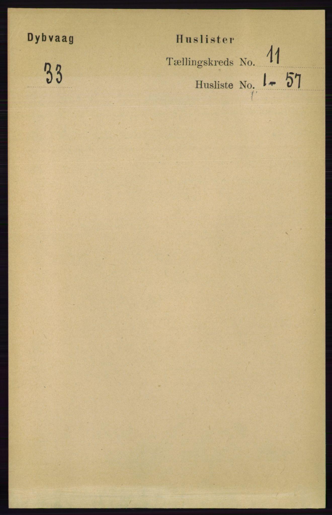 RA, Folketelling 1891 for 0915 Dypvåg herred, 1891, s. 4242