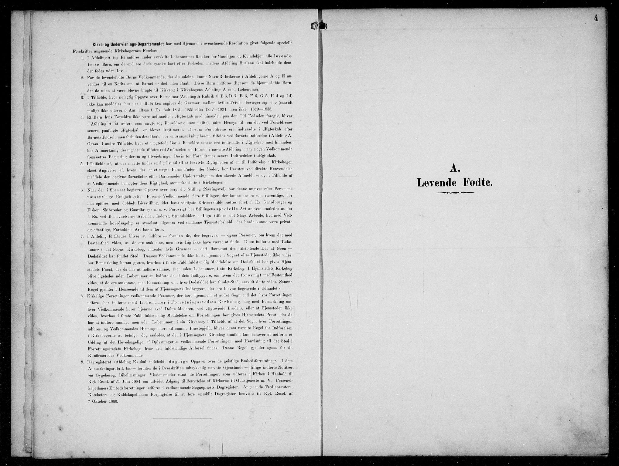 SAB, Hyllestad Sokneprestembete, Klokkerbok nr. C 3, 1894-1913, s. 4
