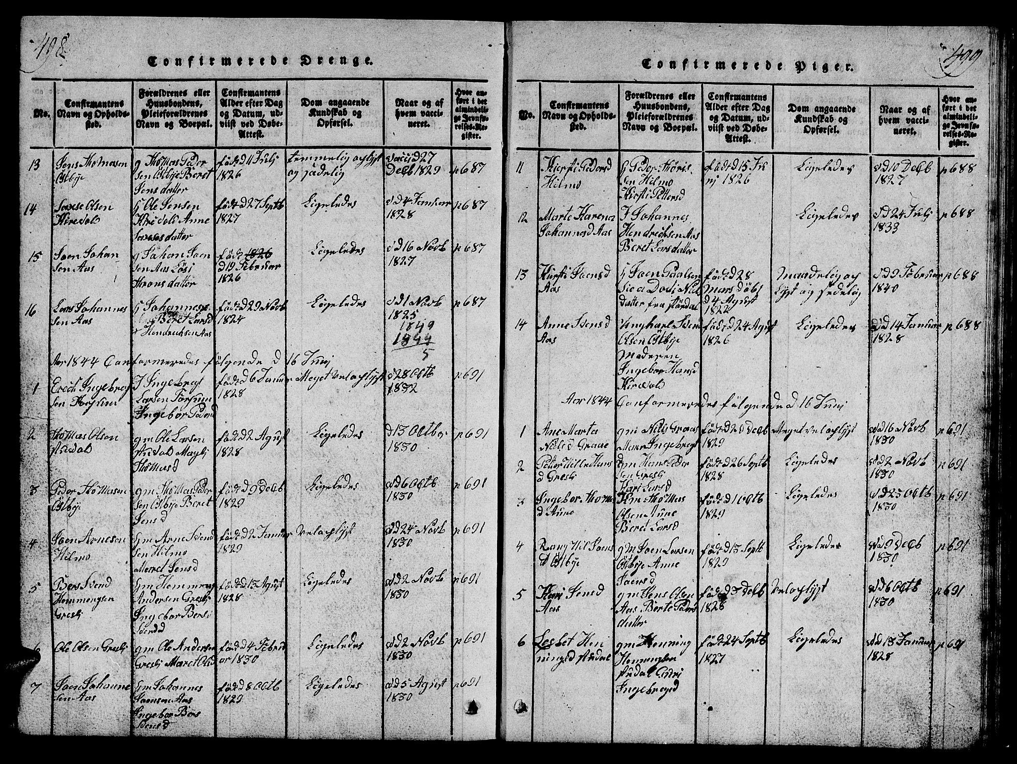 SAT, Ministerialprotokoller, klokkerbøker og fødselsregistre - Sør-Trøndelag, 698/L1164: Klokkerbok nr. 698C01, 1816-1861, s. 498-499