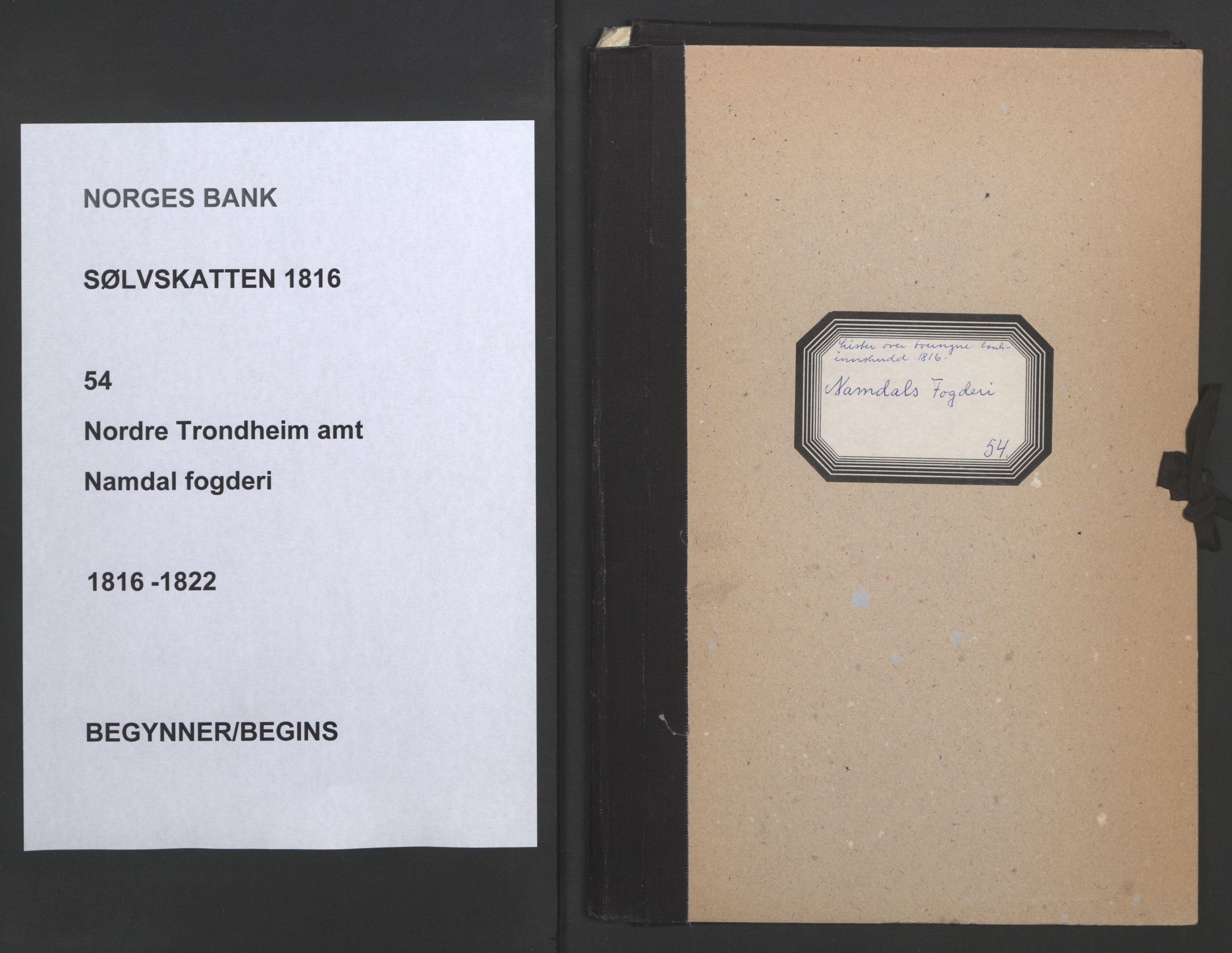 NOBA, Norges Bank/Sølvskatten 1816*, 1816-1822, s. 1