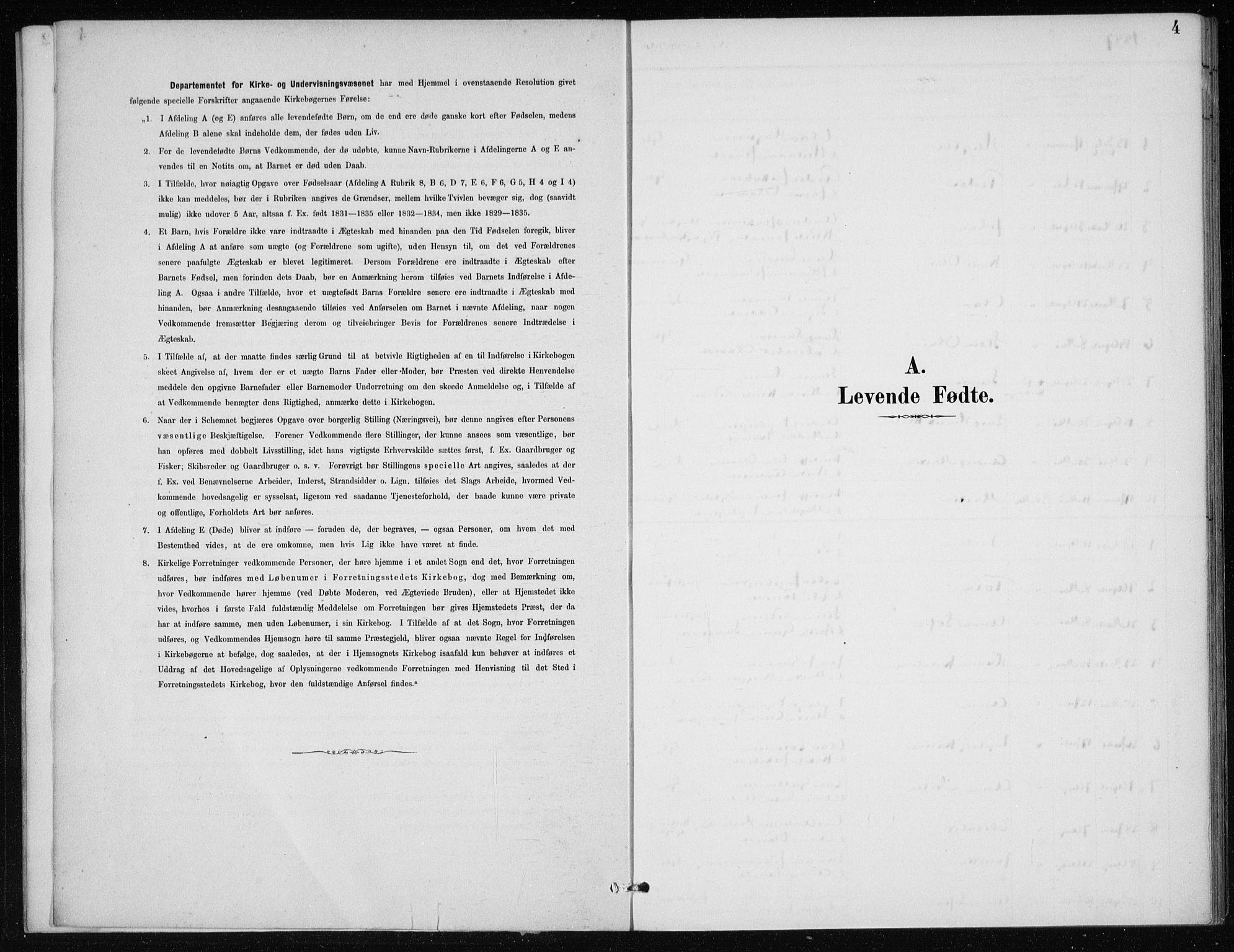 SAB, Kvinnherad Sokneprestembete, H/Haa: Ministerialbok nr. E 1, 1887-1912, s. 4