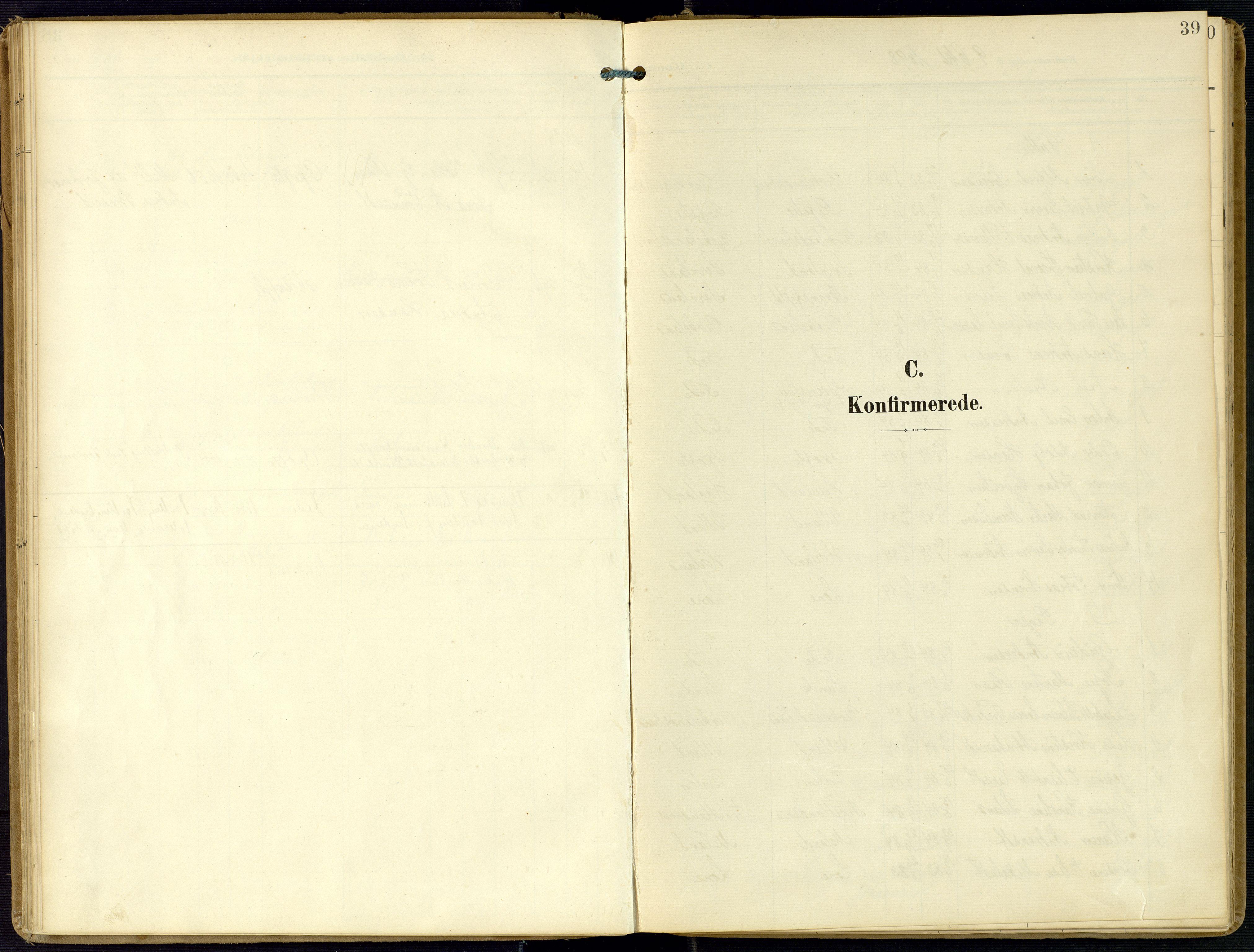 SAK, Kvinesdal sokneprestkontor, F/Fa/Faa/L0005: Ministerialbok nr. A 5, 1898-1915, s. 39
