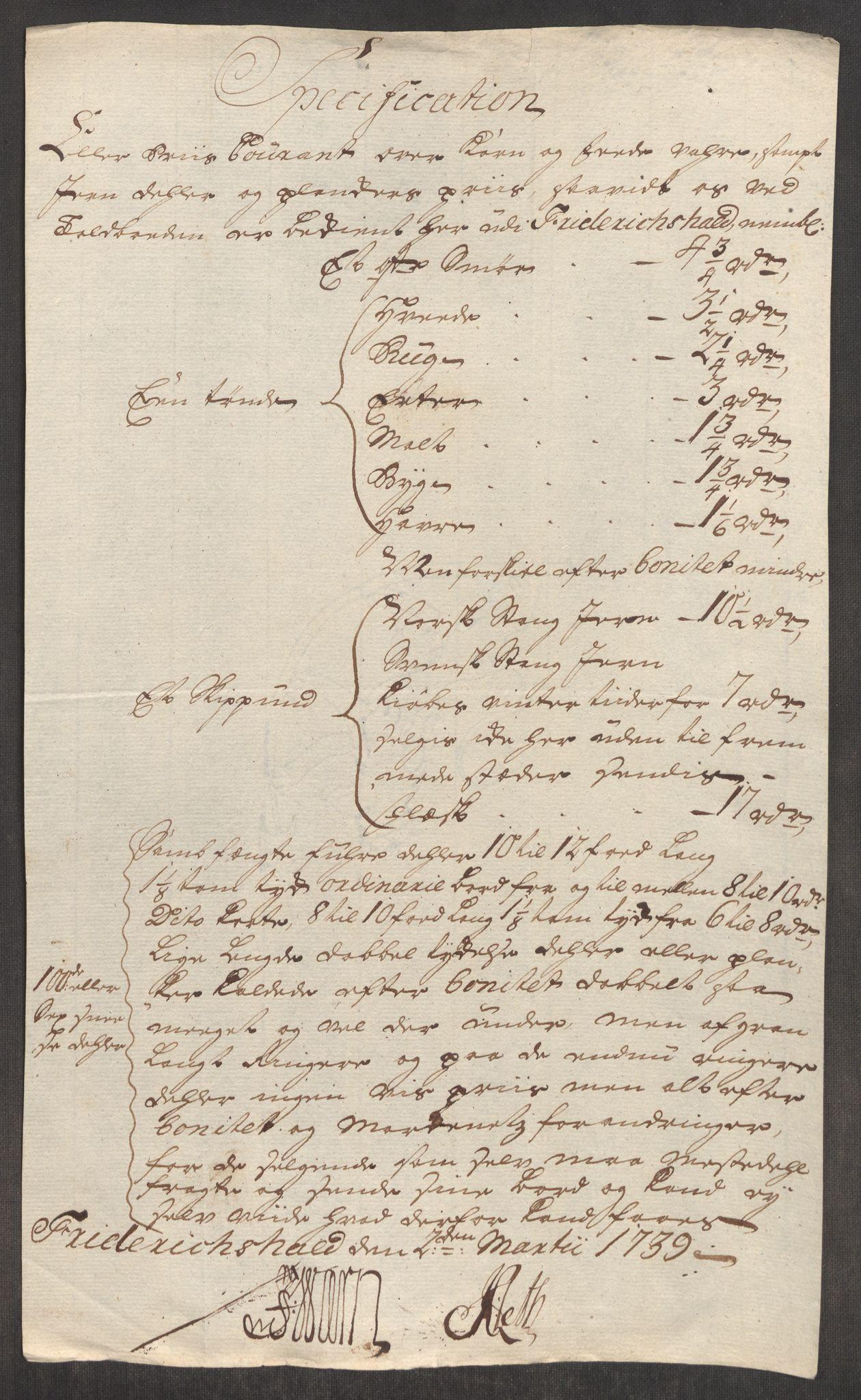 RA, Rentekammeret inntil 1814, Realistisk ordnet avdeling, Oe/L0001: [Ø1]: Priskuranter, 1712-1739, s. 886