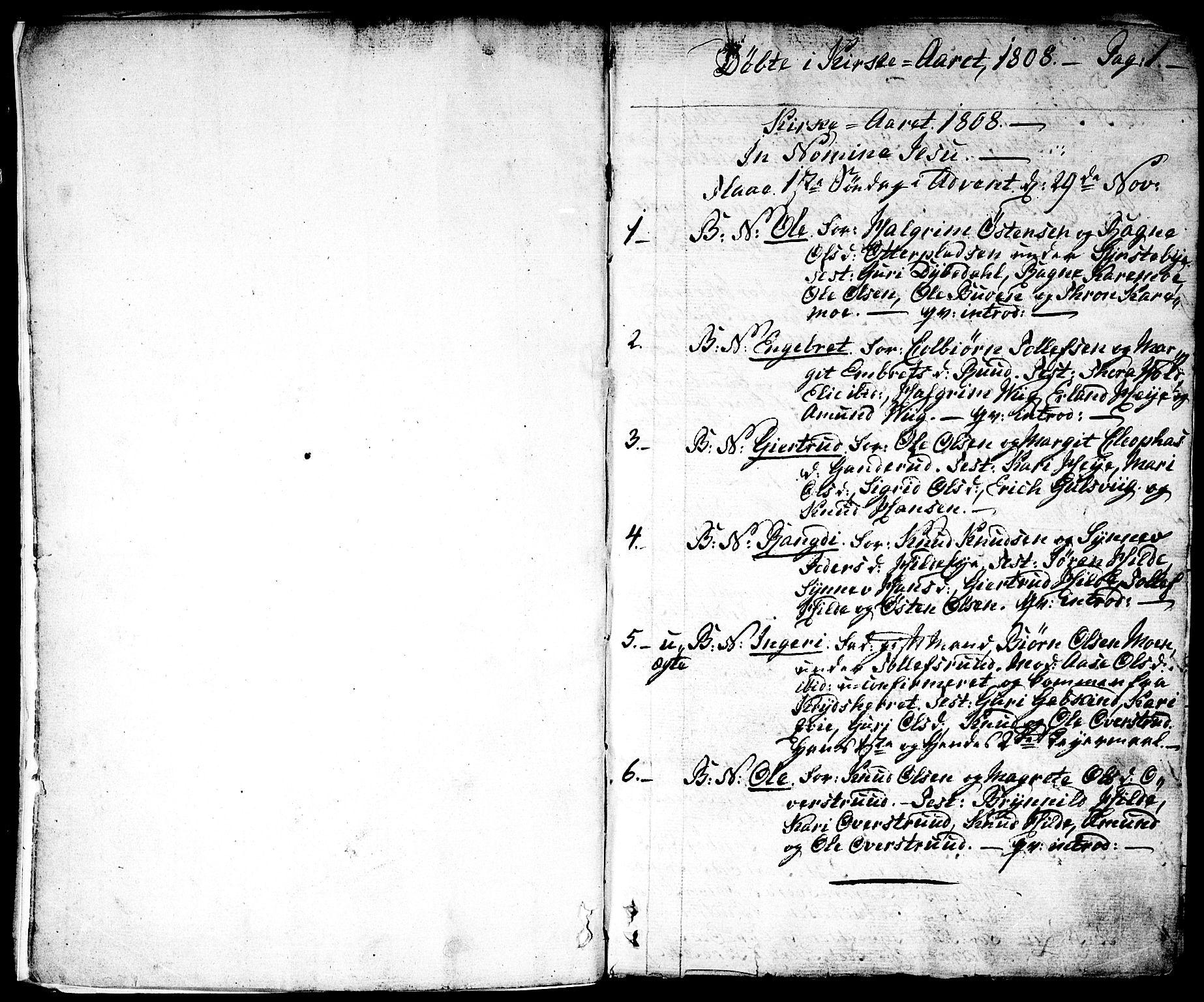 SAKO, Nes kirkebøker, F/Fa/L0006: Ministerialbok nr. 6, 1808-1814, s. 0-1