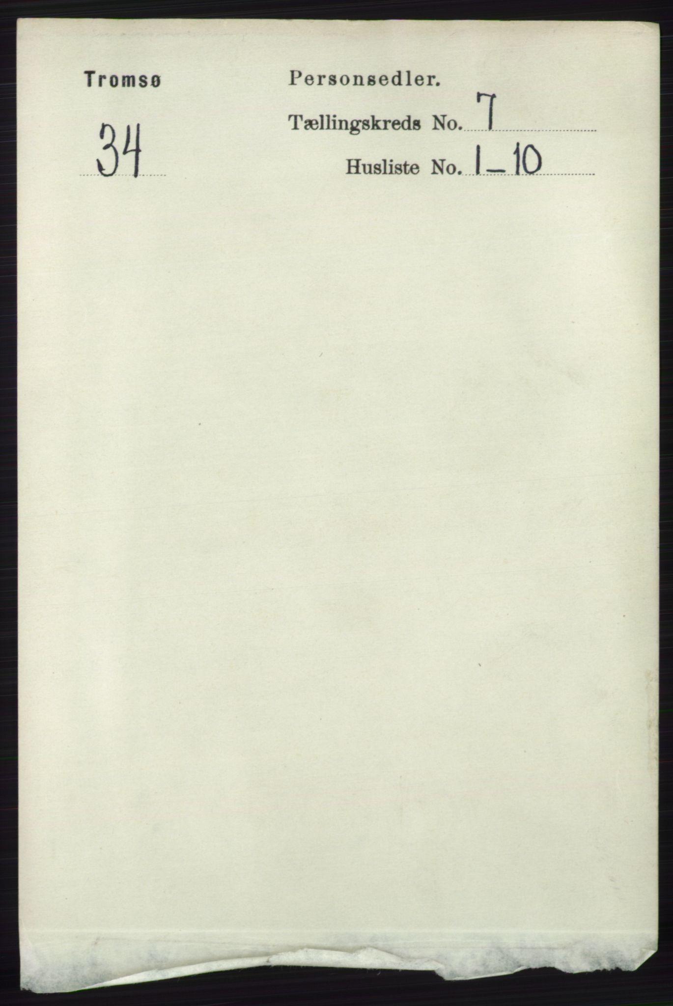 RA, Folketelling 1891 for 1902 Tromsø kjøpstad, 1891, s. 6658