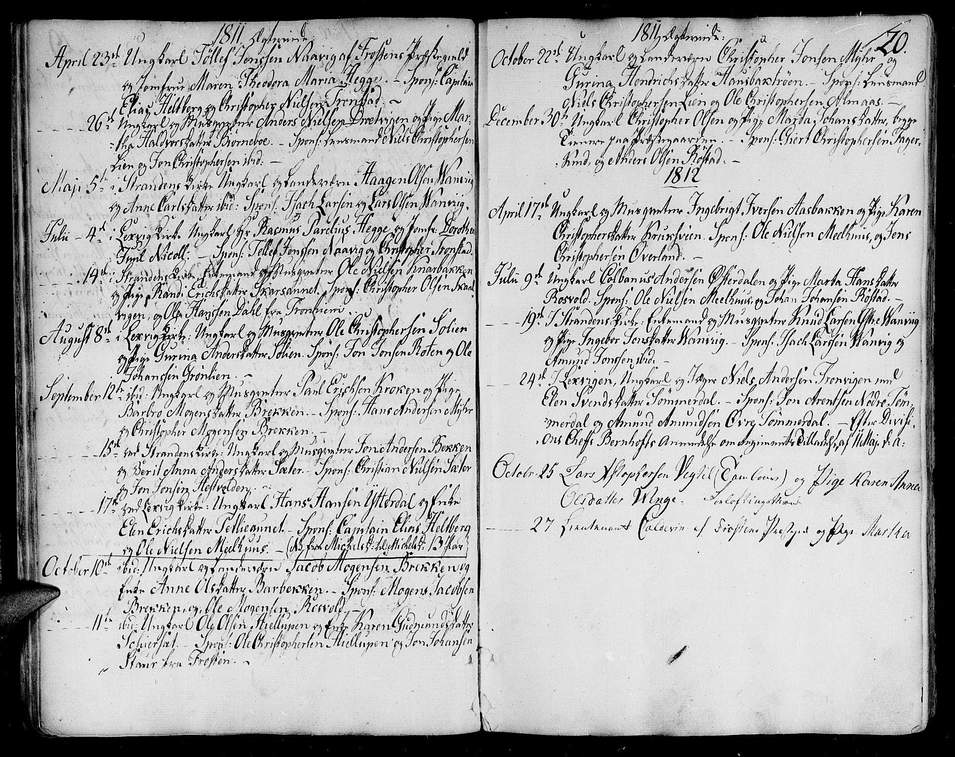 SAT, Ministerialprotokoller, klokkerbøker og fødselsregistre - Nord-Trøndelag, 701/L0004: Ministerialbok nr. 701A04, 1783-1816, s. 20