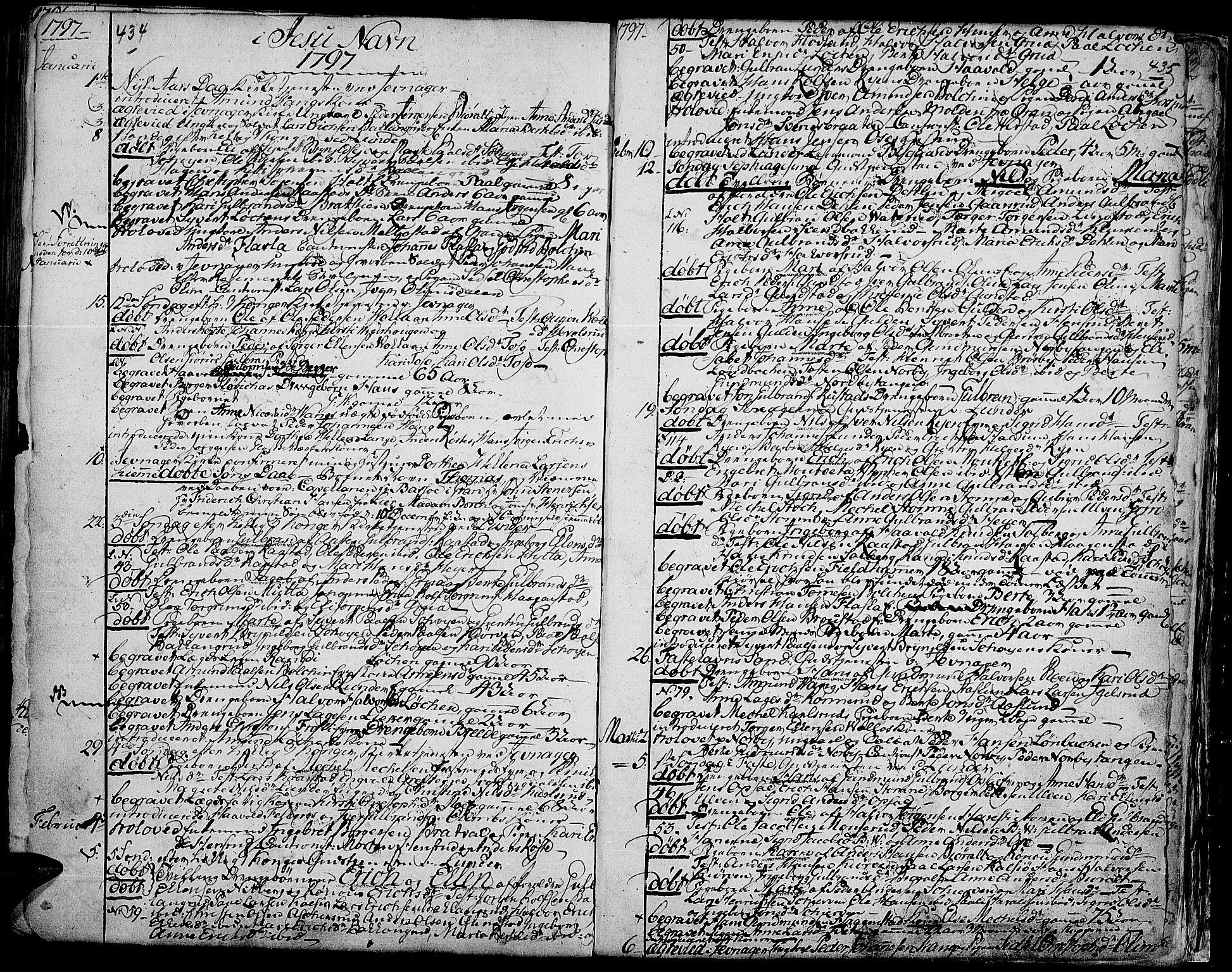 SAH, Jevnaker prestekontor, Ministerialbok nr. 3, 1752-1799, s. 434-435