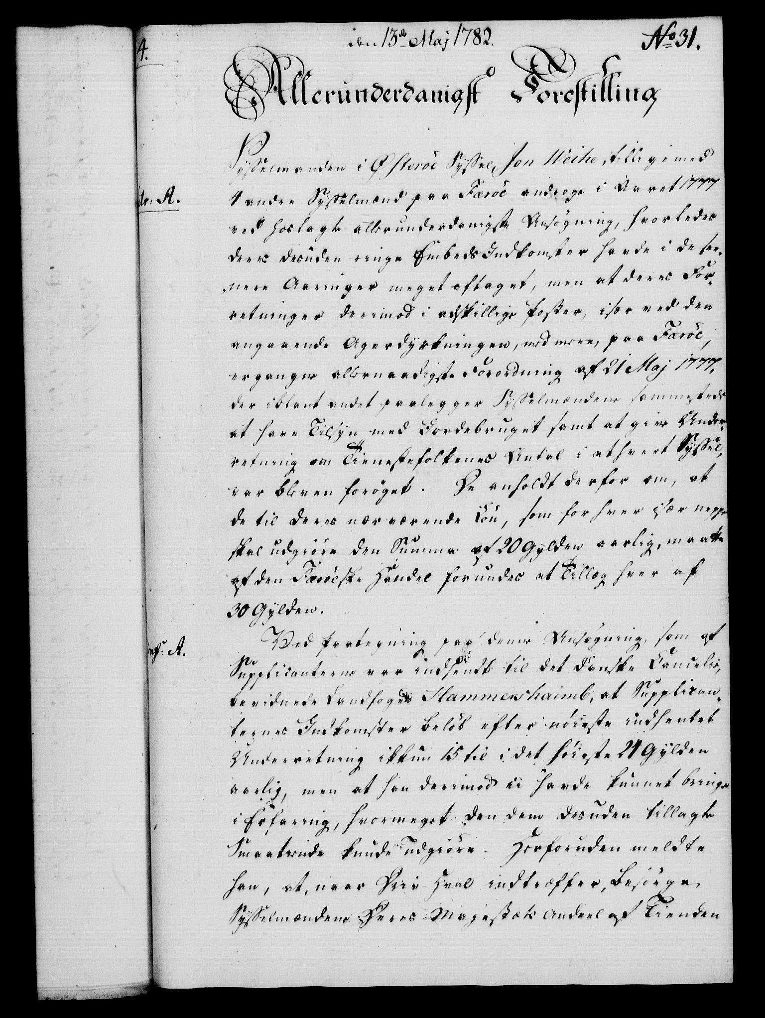 RA, Rentekammeret, Kammerkanselliet, G/Gf/Gfa/L0064: Norsk relasjons- og resolusjonsprotokoll (merket RK 52.64), 1782, s. 238
