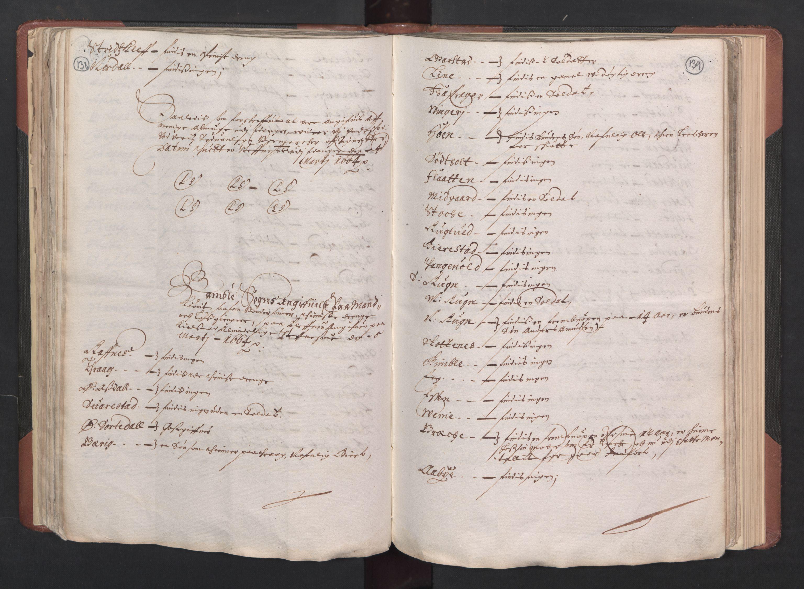 RA, Fogdenes og sorenskrivernes manntall 1664-1666, nr. 6: Øvre og Nedre Telemark fogderi og Bamble fogderi , 1664, s. 138-139
