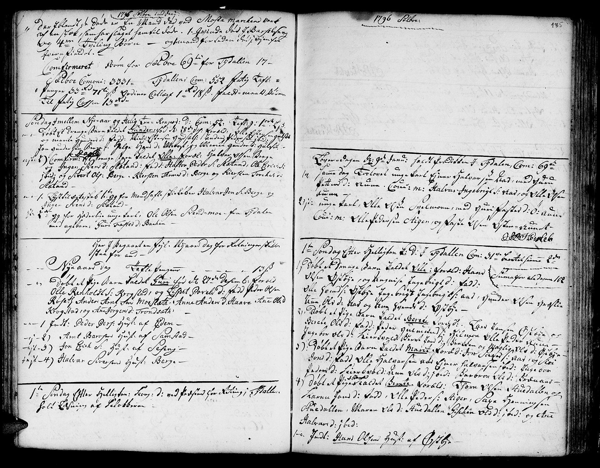 SAT, Ministerialprotokoller, klokkerbøker og fødselsregistre - Sør-Trøndelag, 695/L1138: Ministerialbok nr. 695A02 /1, 1757-1801, s. 185