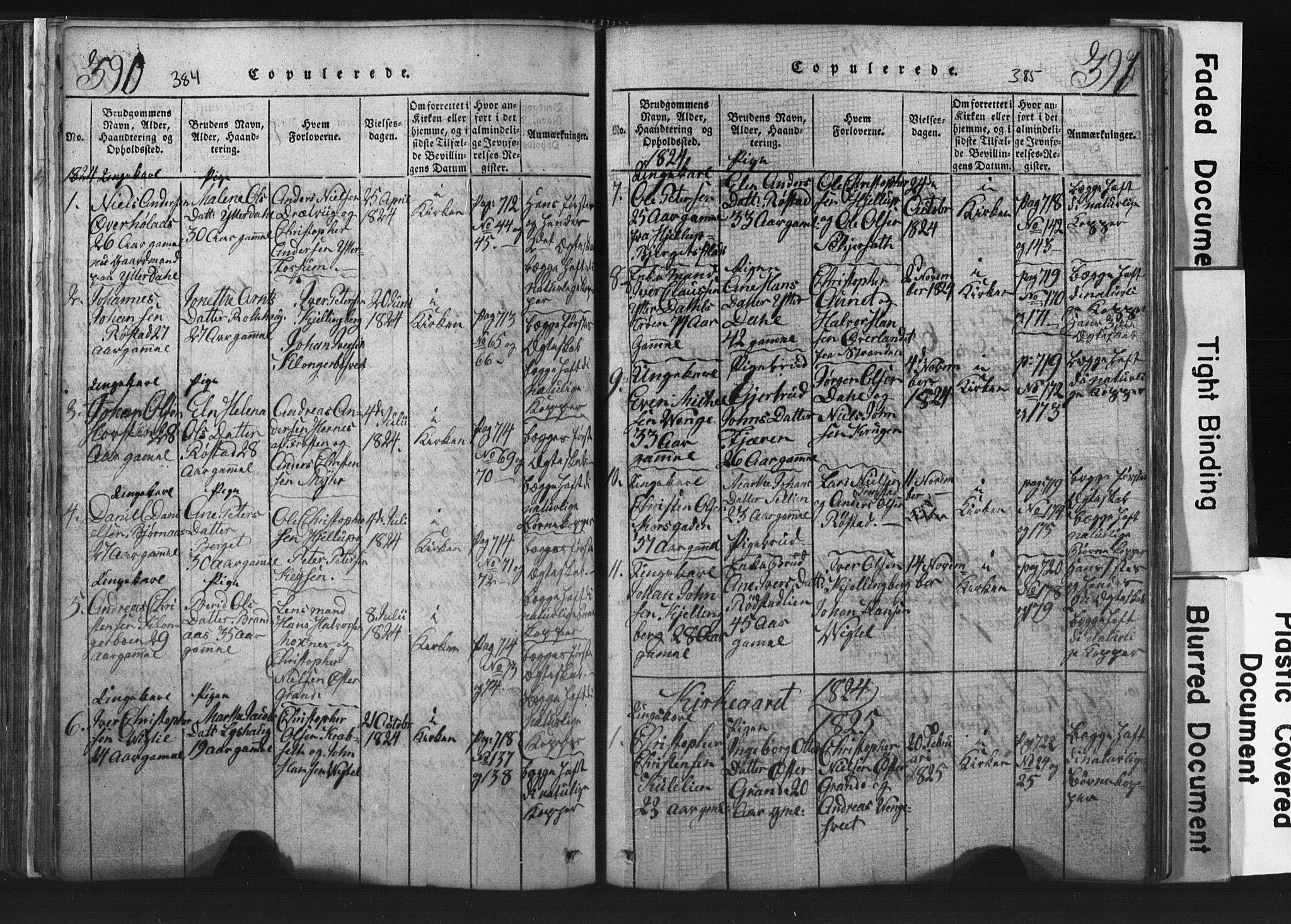 SAT, Ministerialprotokoller, klokkerbøker og fødselsregistre - Nord-Trøndelag, 701/L0017: Klokkerbok nr. 701C01, 1817-1825, s. 384-385