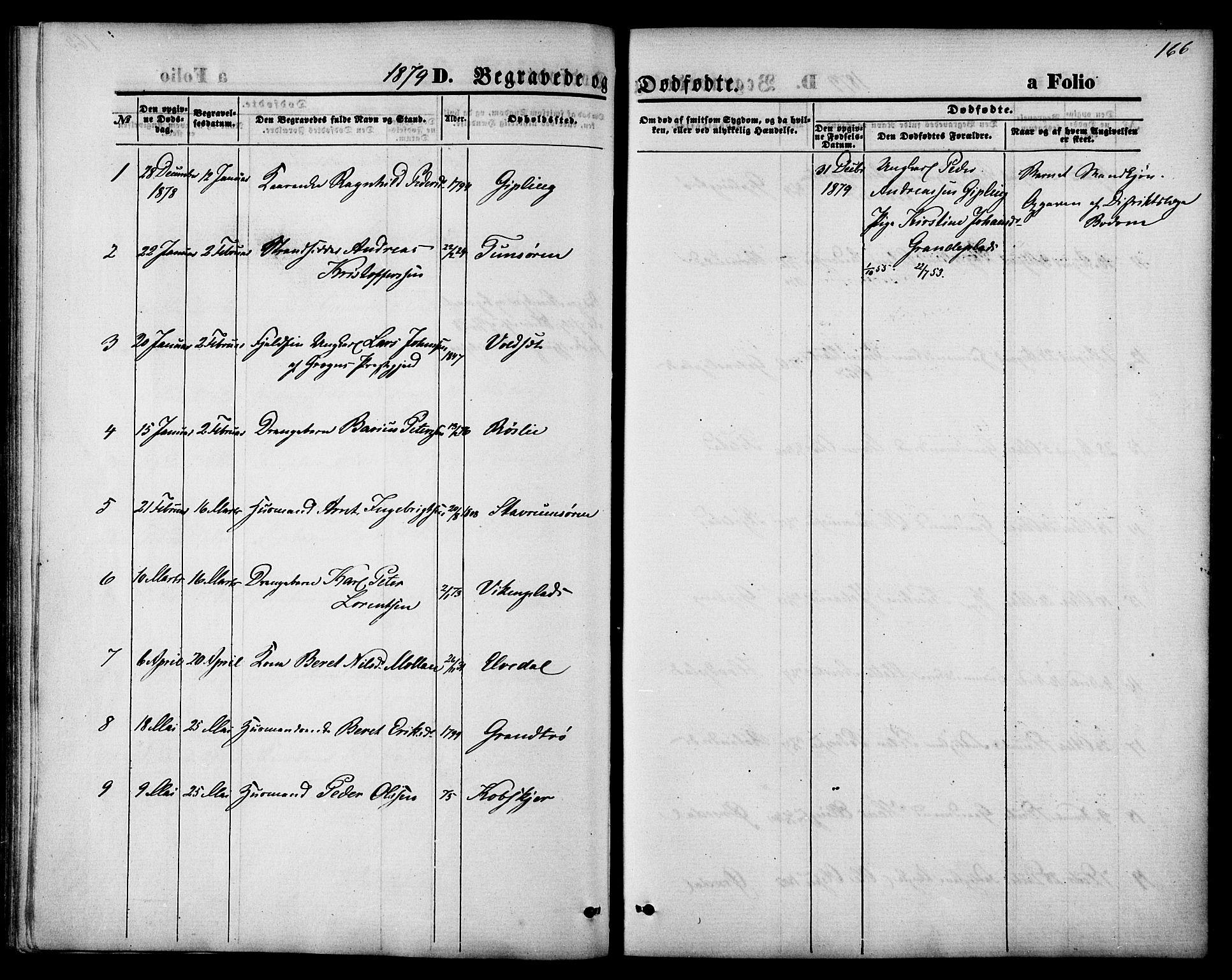 SAT, Ministerialprotokoller, klokkerbøker og fødselsregistre - Nord-Trøndelag, 744/L0419: Ministerialbok nr. 744A03, 1867-1881, s. 166