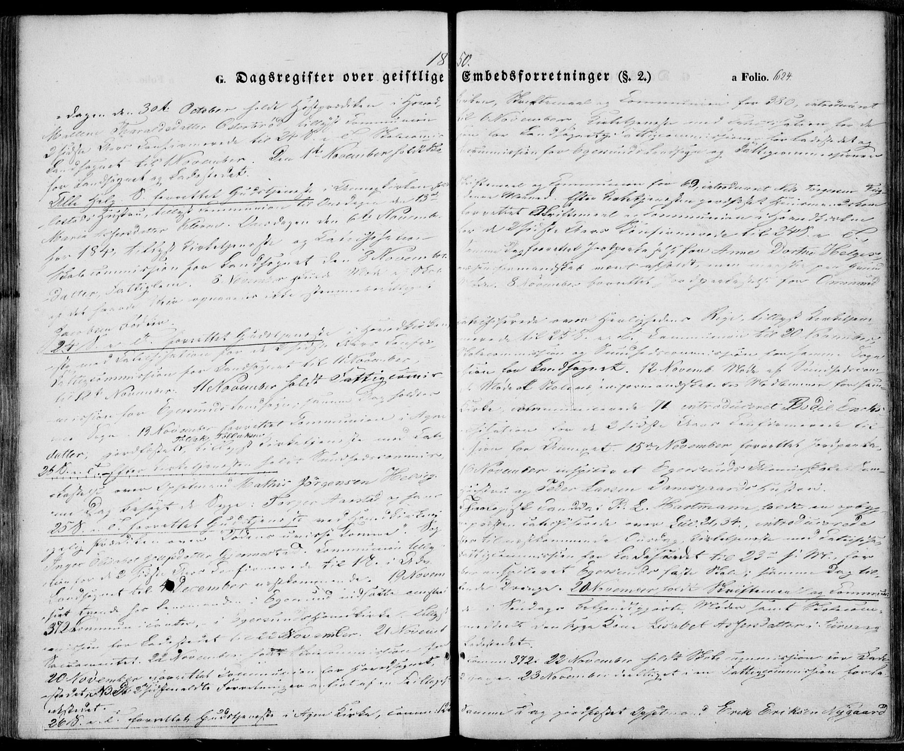 SAST, Egersund sokneprestkontor, Ministerialbok nr. A 12.2, 1850-1865, s. 624